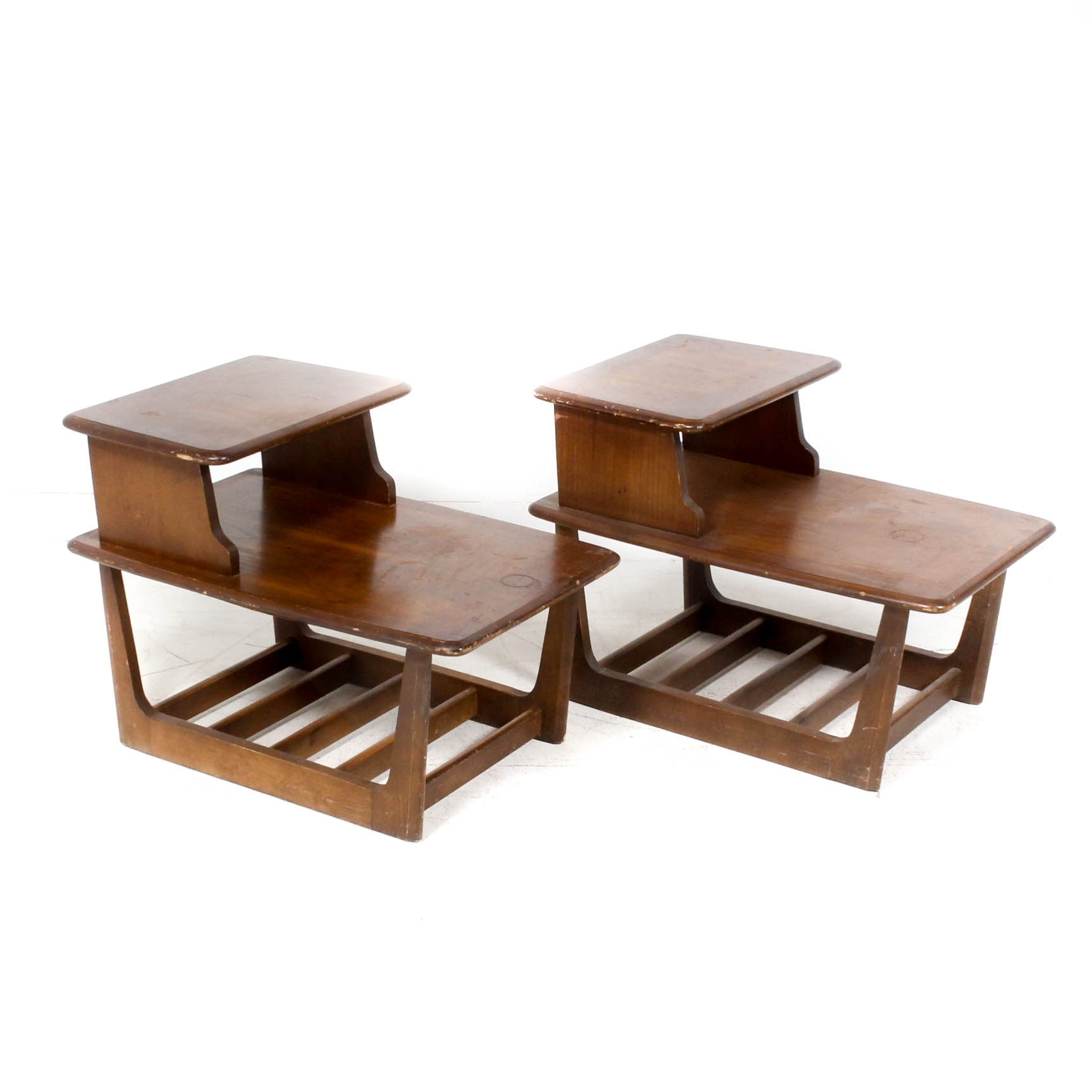 Mid Century Modern Stepped Side Tables