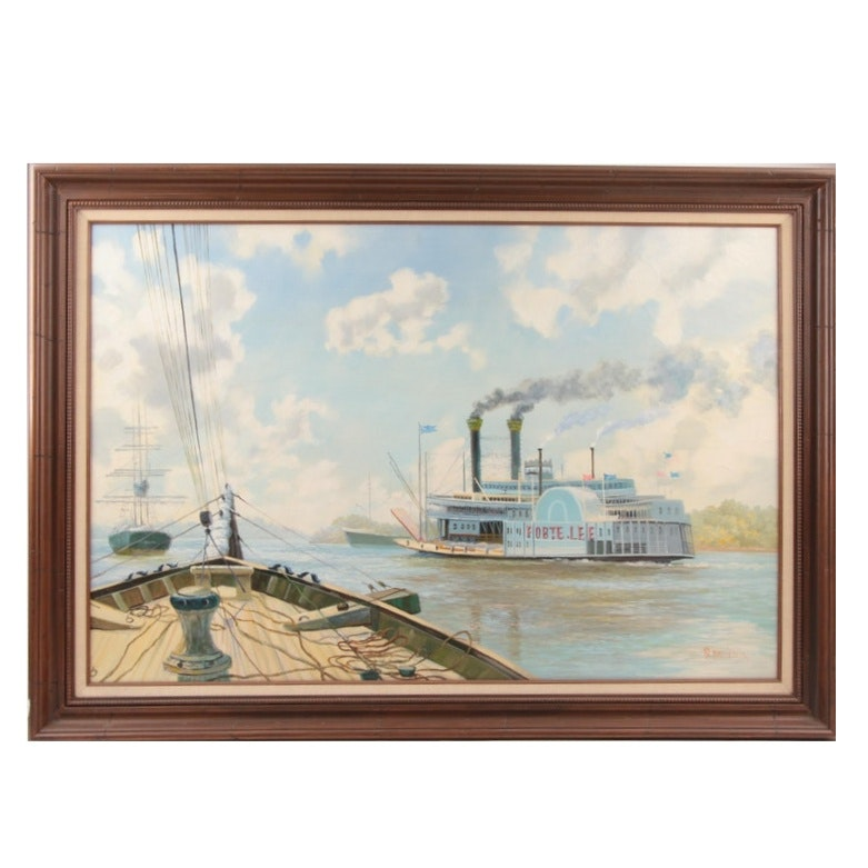S. Hathcock 20th Century Oil Painting on Canvas