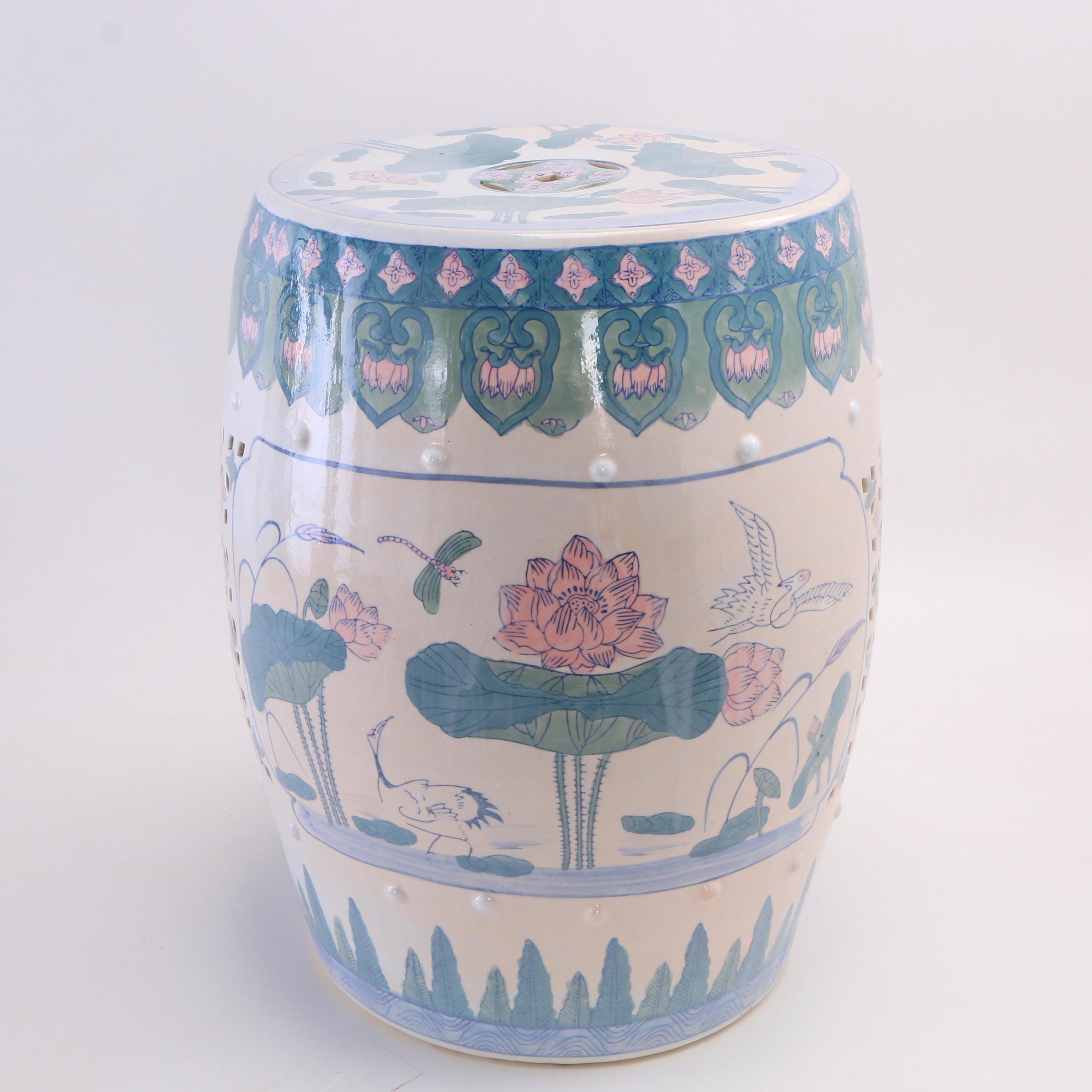 Chinese Ceramic Garden Stool, 20th Century