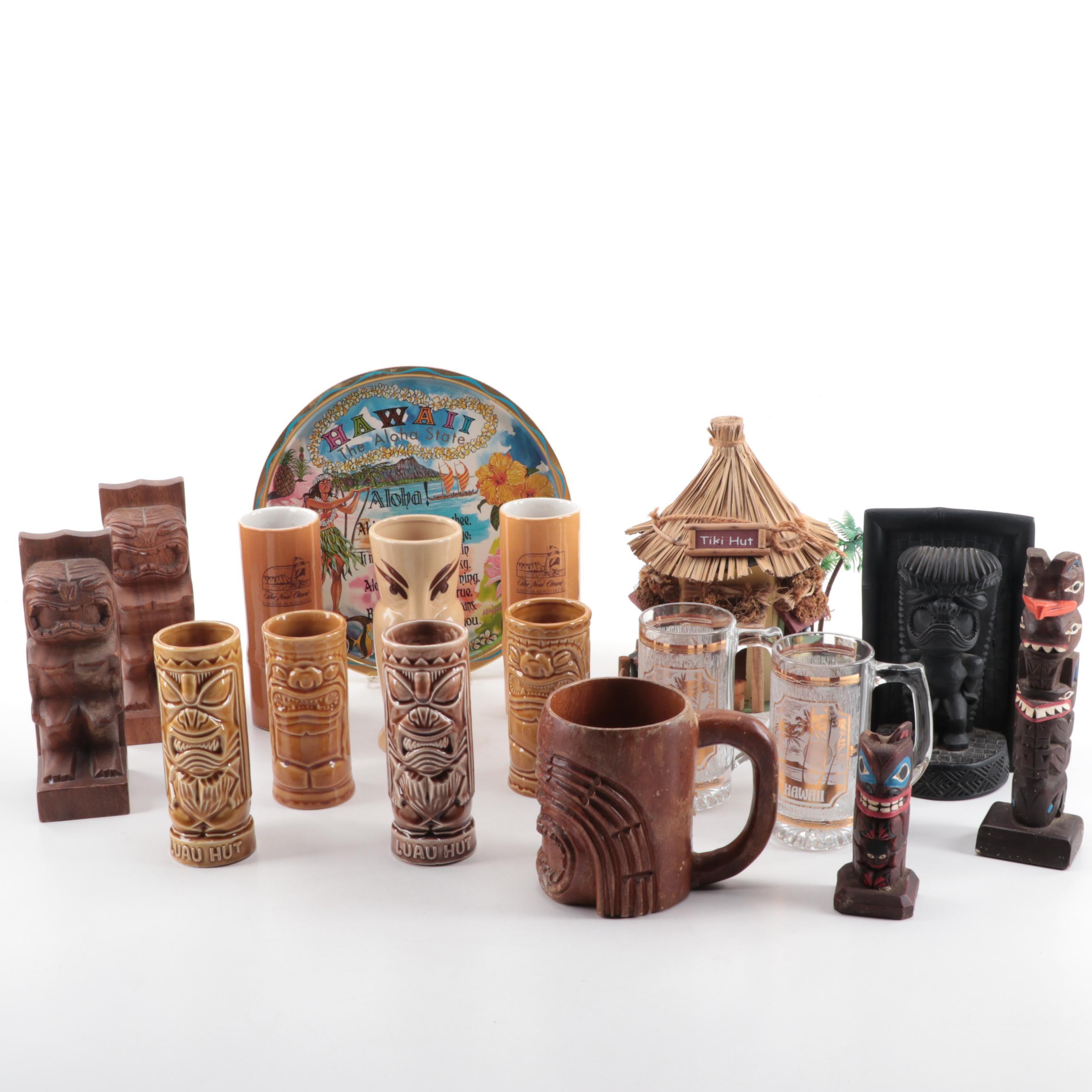 Tiki Style Decor and Glassware