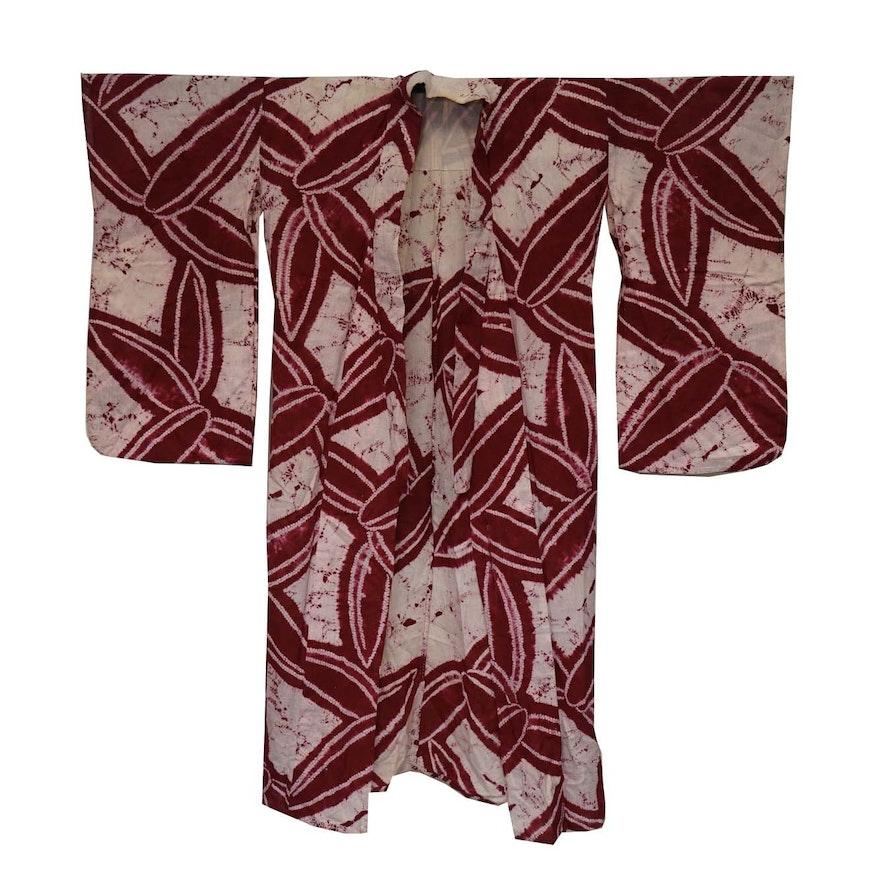 Circa 1870s Antique Japanese Handwoven Cotton Yukata Kimono   EBTH a7f669792