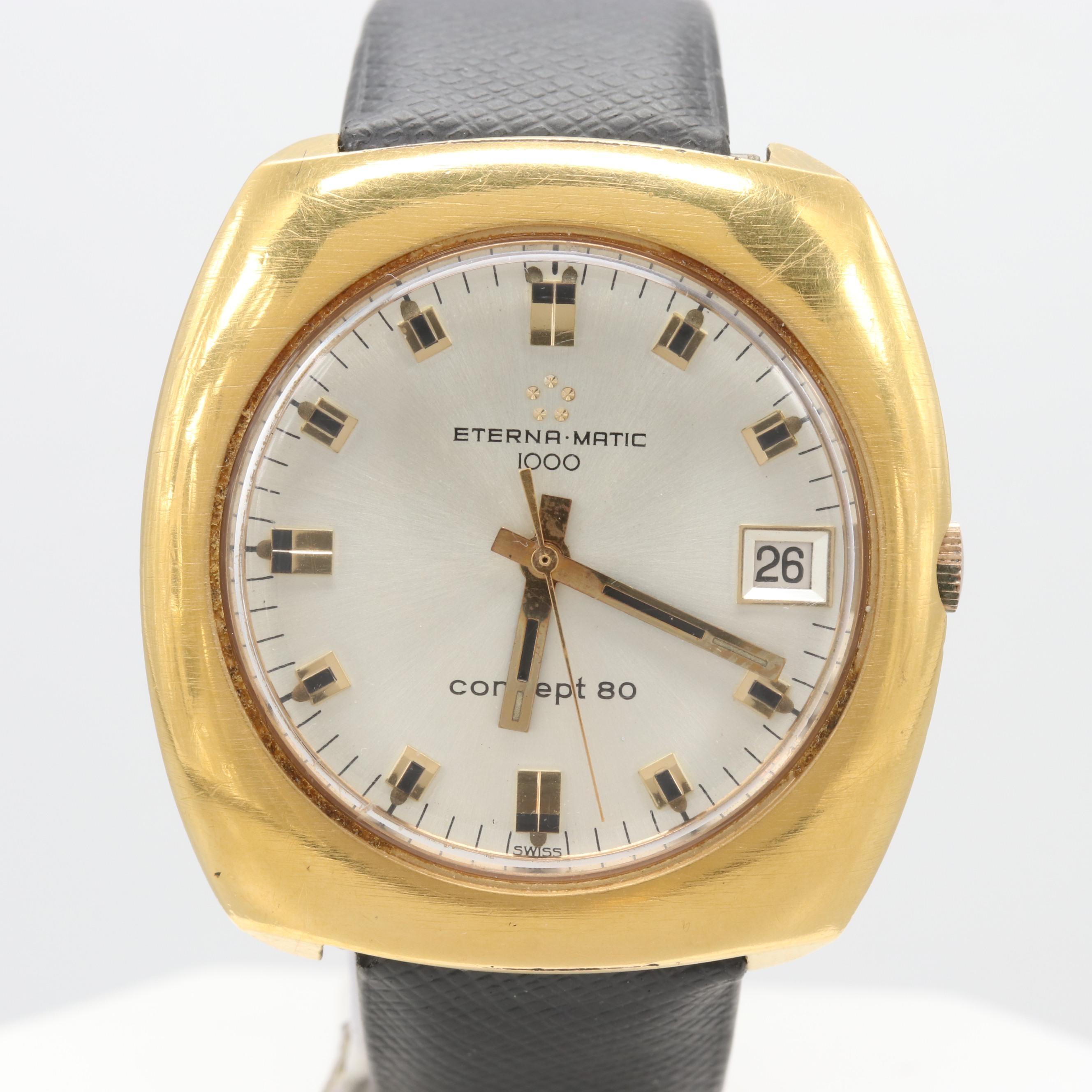 Eterna Eterna-Matic 1000 Concept 180 Automatic Wristwatch Circa 1969