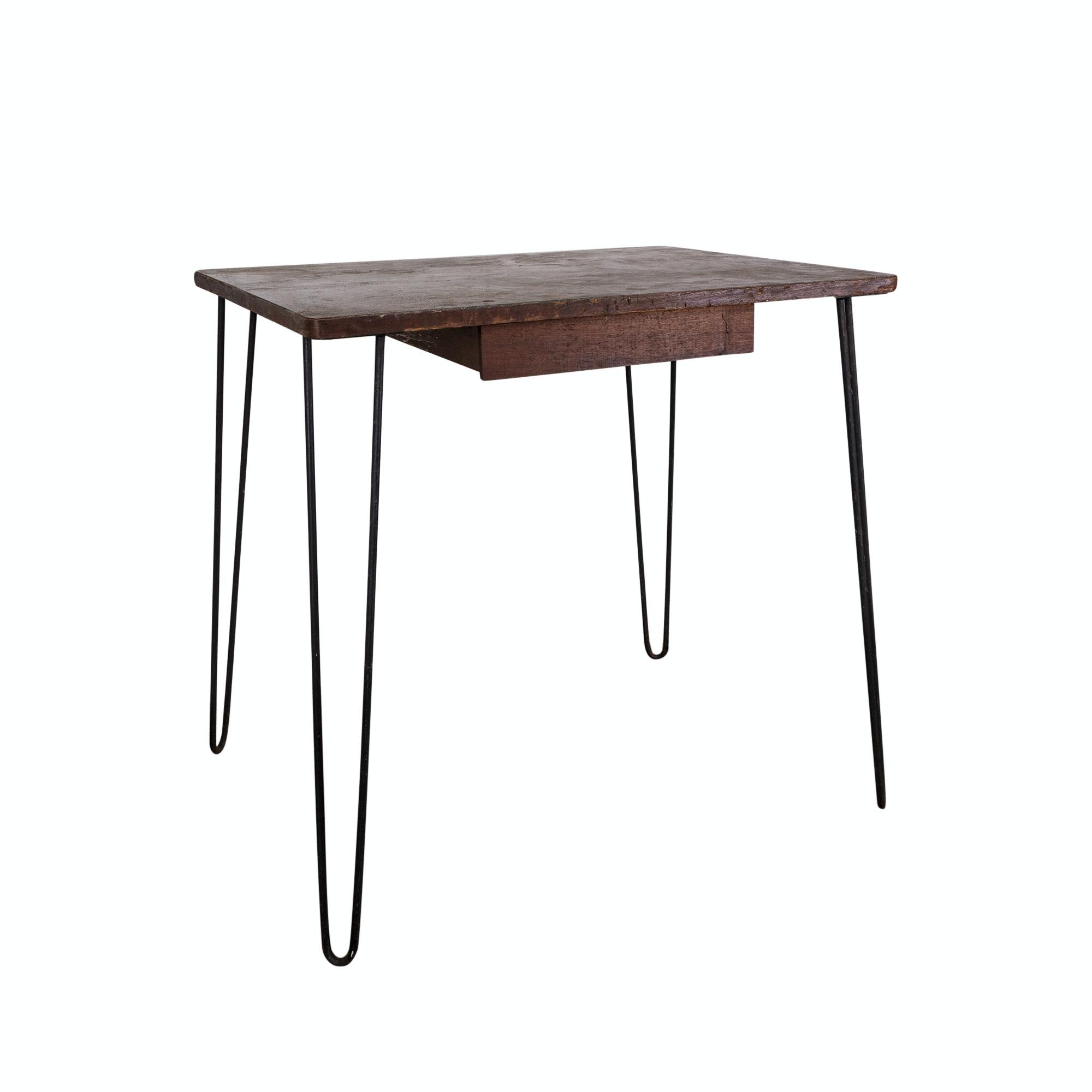 Mid Century Modern Oak Side Table, Mid-20th Century