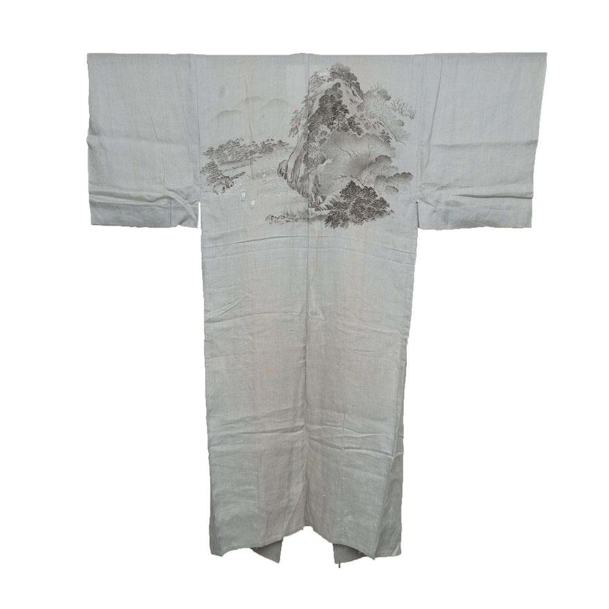 Men s Circa 1880s Handwoven Hemp Nagajuban Under Kimono   EBTH b767eccad