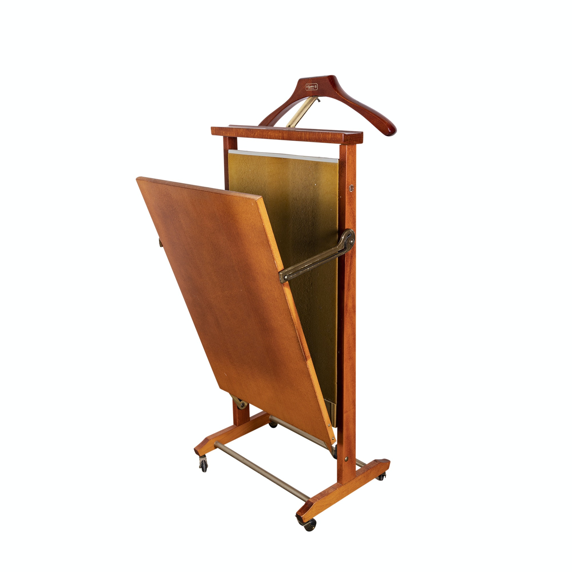 Walnut Valet with Trouser Press by Reguitti, 20th Century