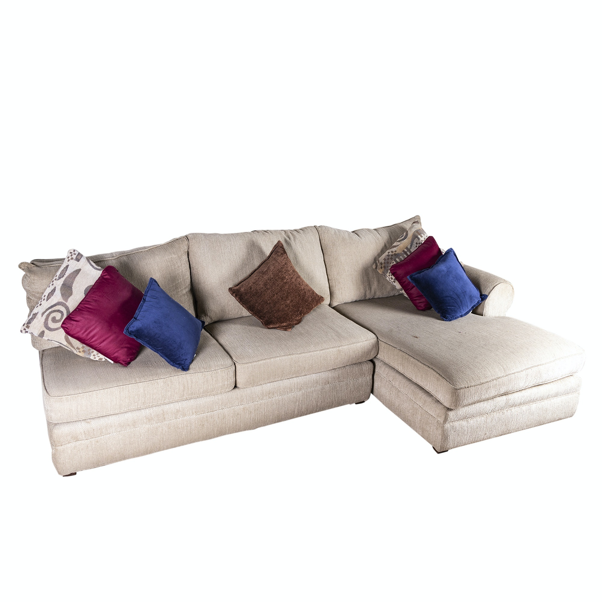 Sectional Sofa with Chaise, 21st Century