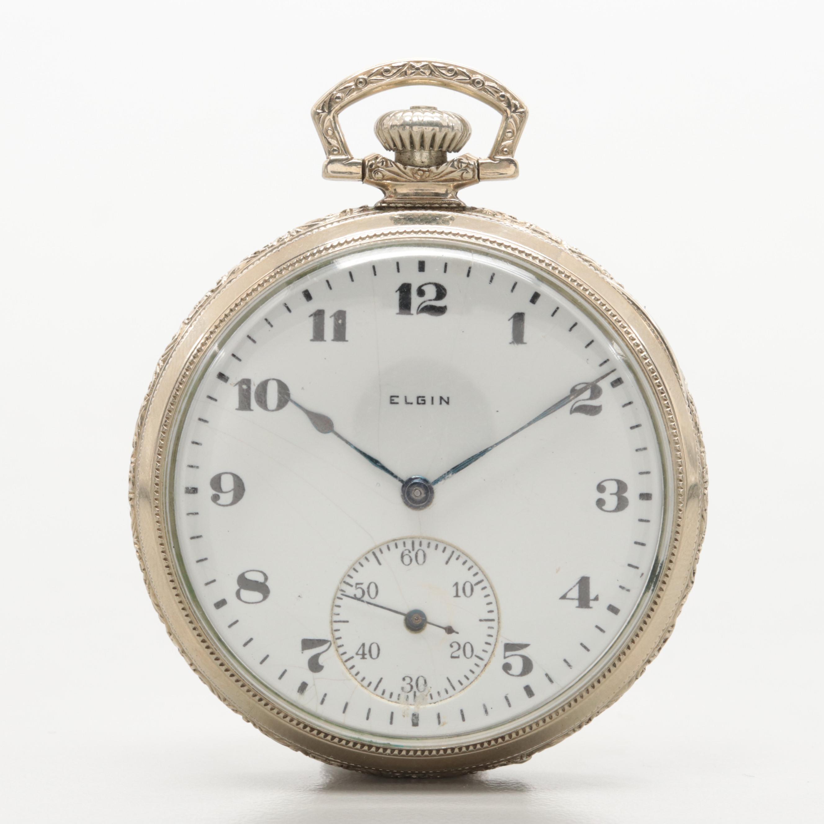 Elgin 14K Gold Filled Pocket Watch Circa 1921