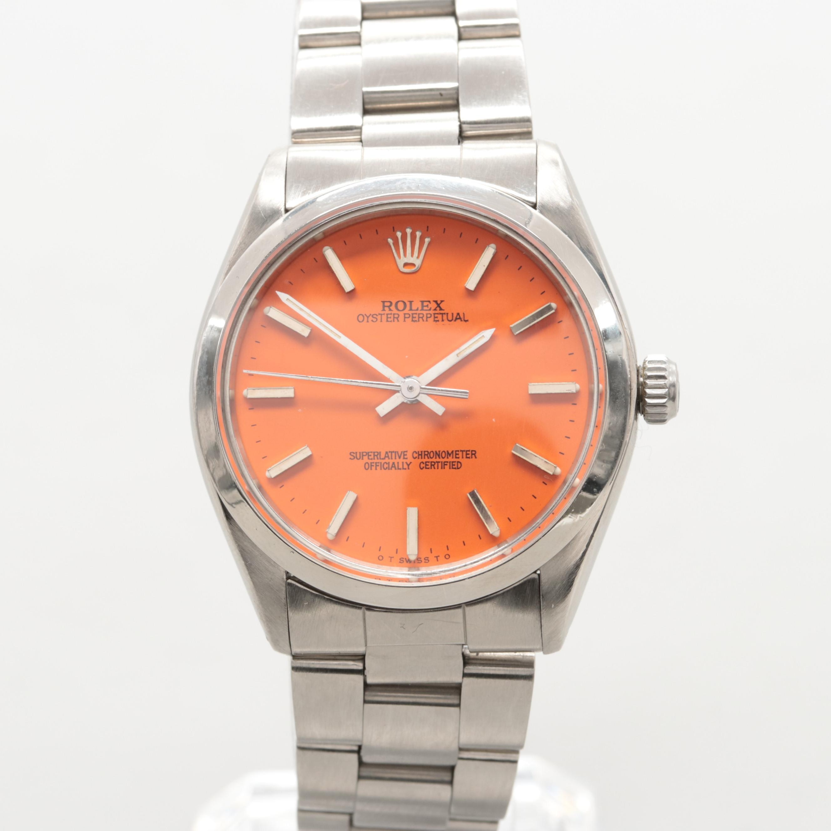 Rolex Oyster Perpetual 5500 Automatic Wristwatch Circa 1982