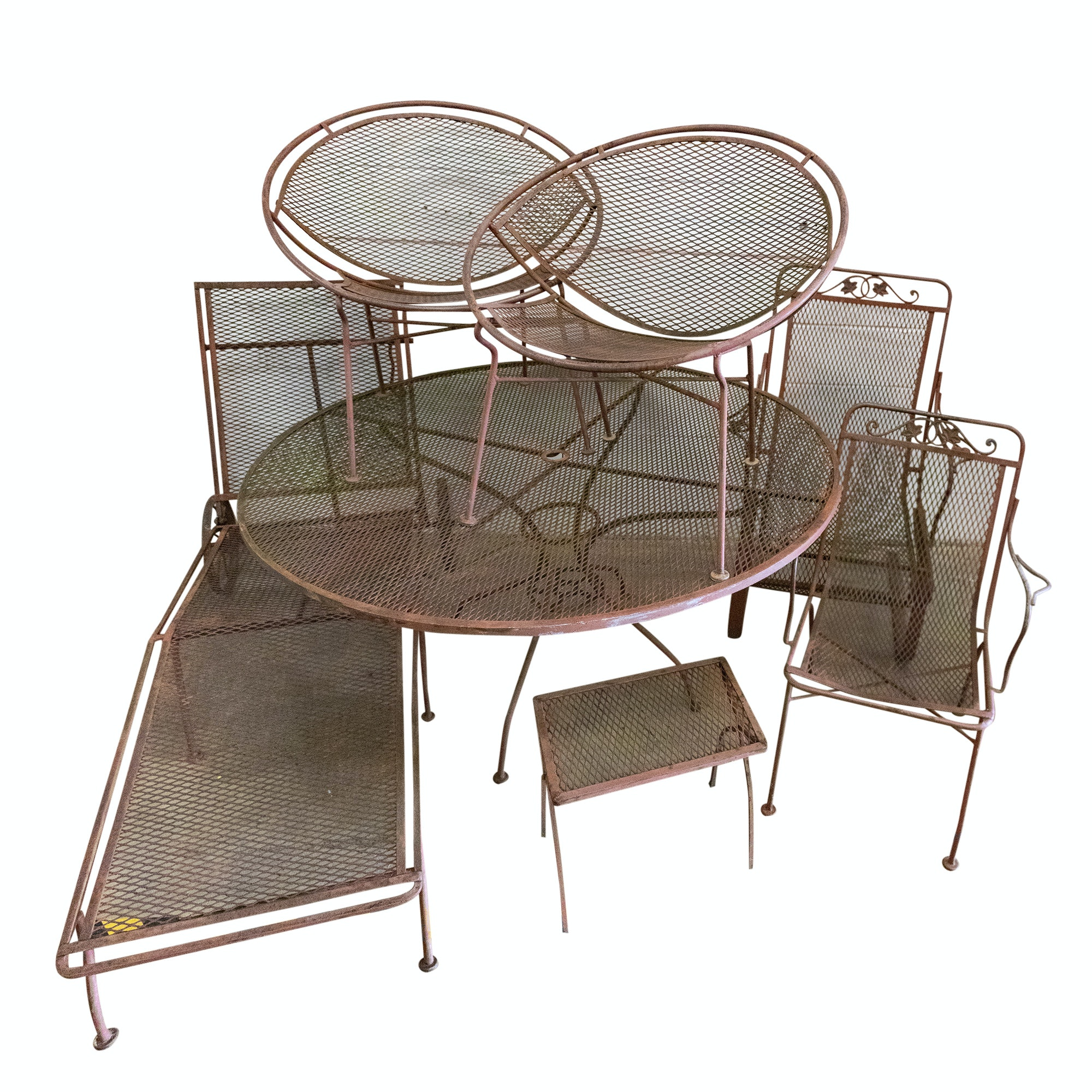 Meshed Metal Patio Furniture Set