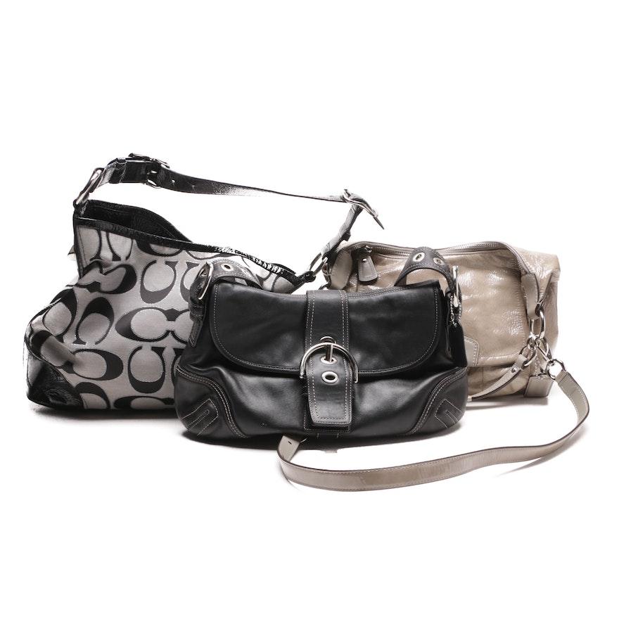 Coach Signature Peyton Bag, Kristin Shoulder Bag and Soho Buckle Flap Hobo  Bag ... cce6661193