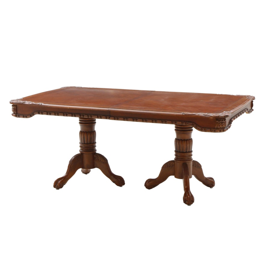 Contemporary Dual Pedestal Dining Table