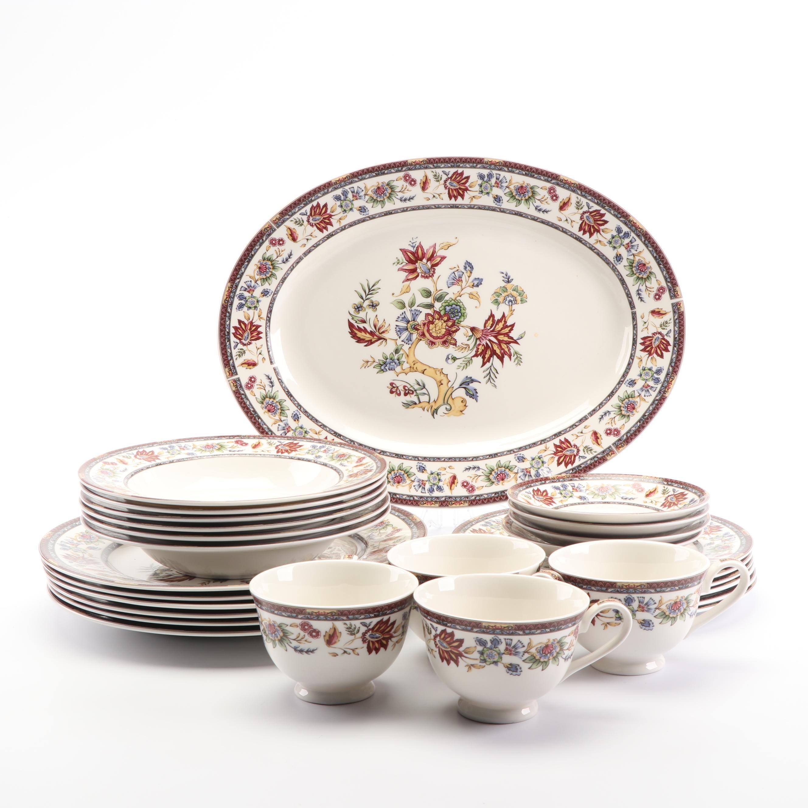 "Queen's ""Indian Tree"" Ceramic Dinnerware"