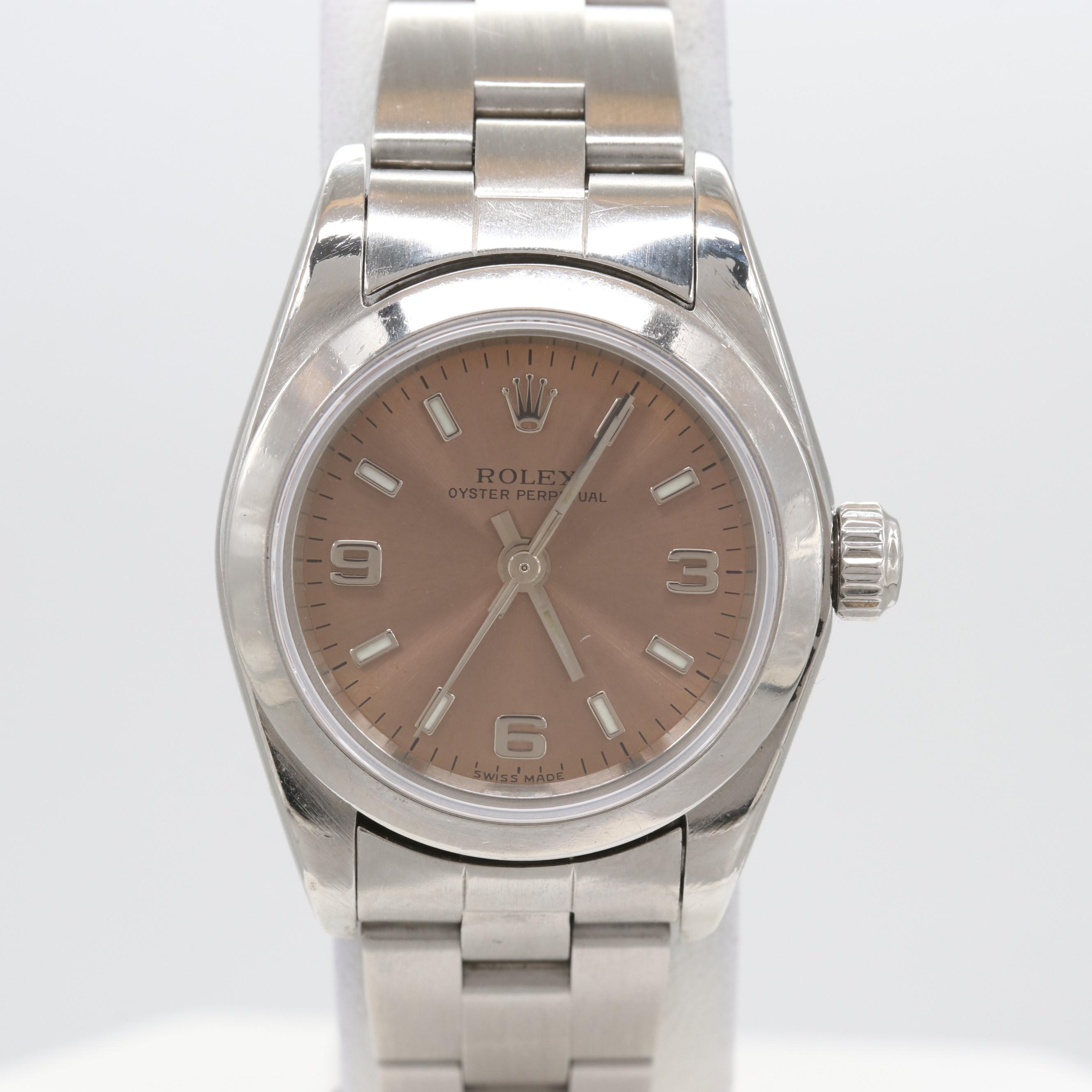 Rolex Oyster Perpetual Stainless Steel Wristwatch, 2001