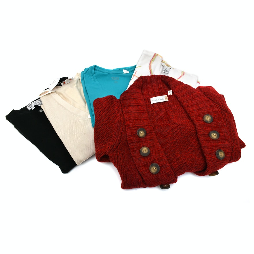 40d11fbd1 Assortment of Women's Sweaters including Talbots and Saks Fifth Avenue ...