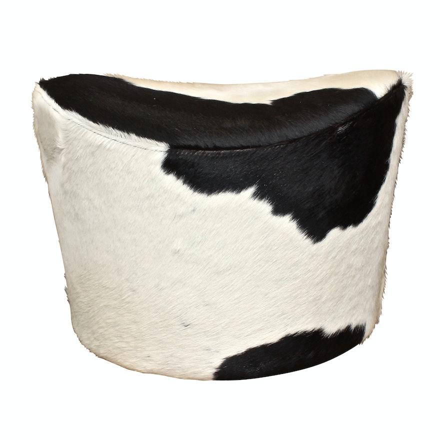 Cowhide Swivel Ottoman By Ikea Ebth