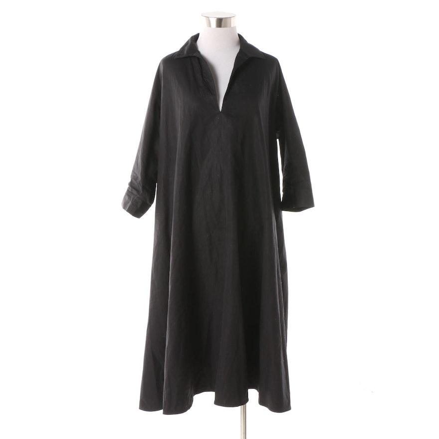 64f3b676613 Women s Max Mara Black Cotton Poplin Trapeze Dress   EBTH