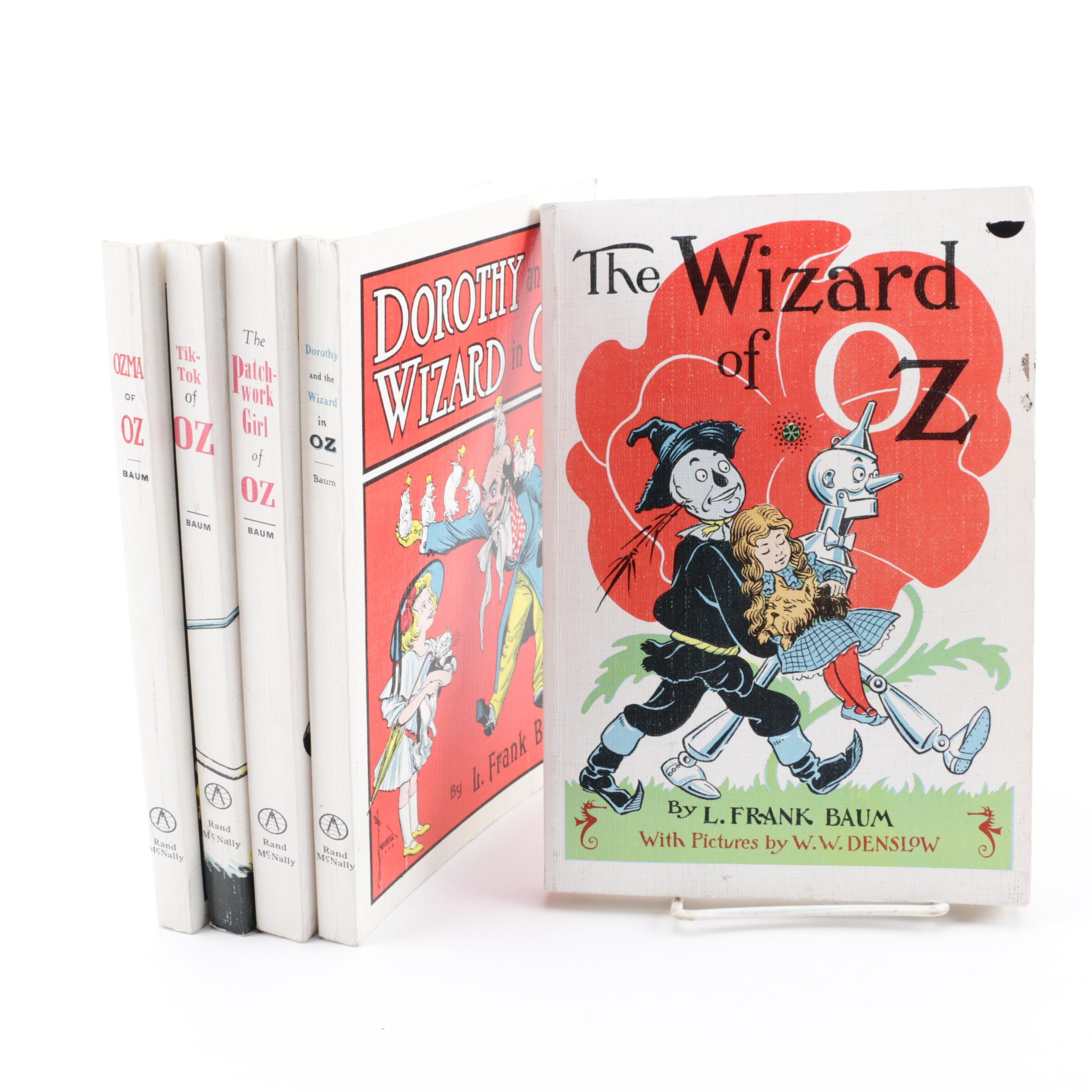 "Mid Century ""The Wizard of Oz"" Books by L. Frank Baum"