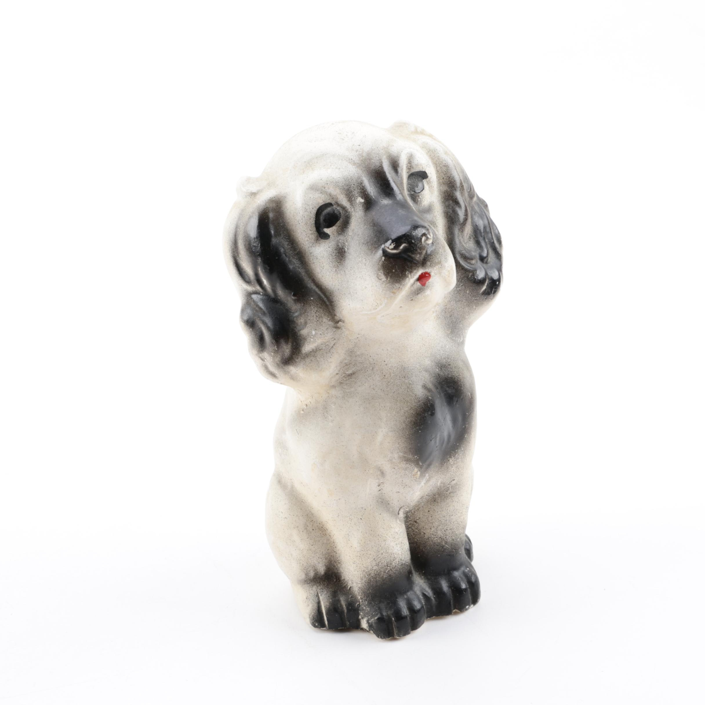 Chalkware Dog Figurine