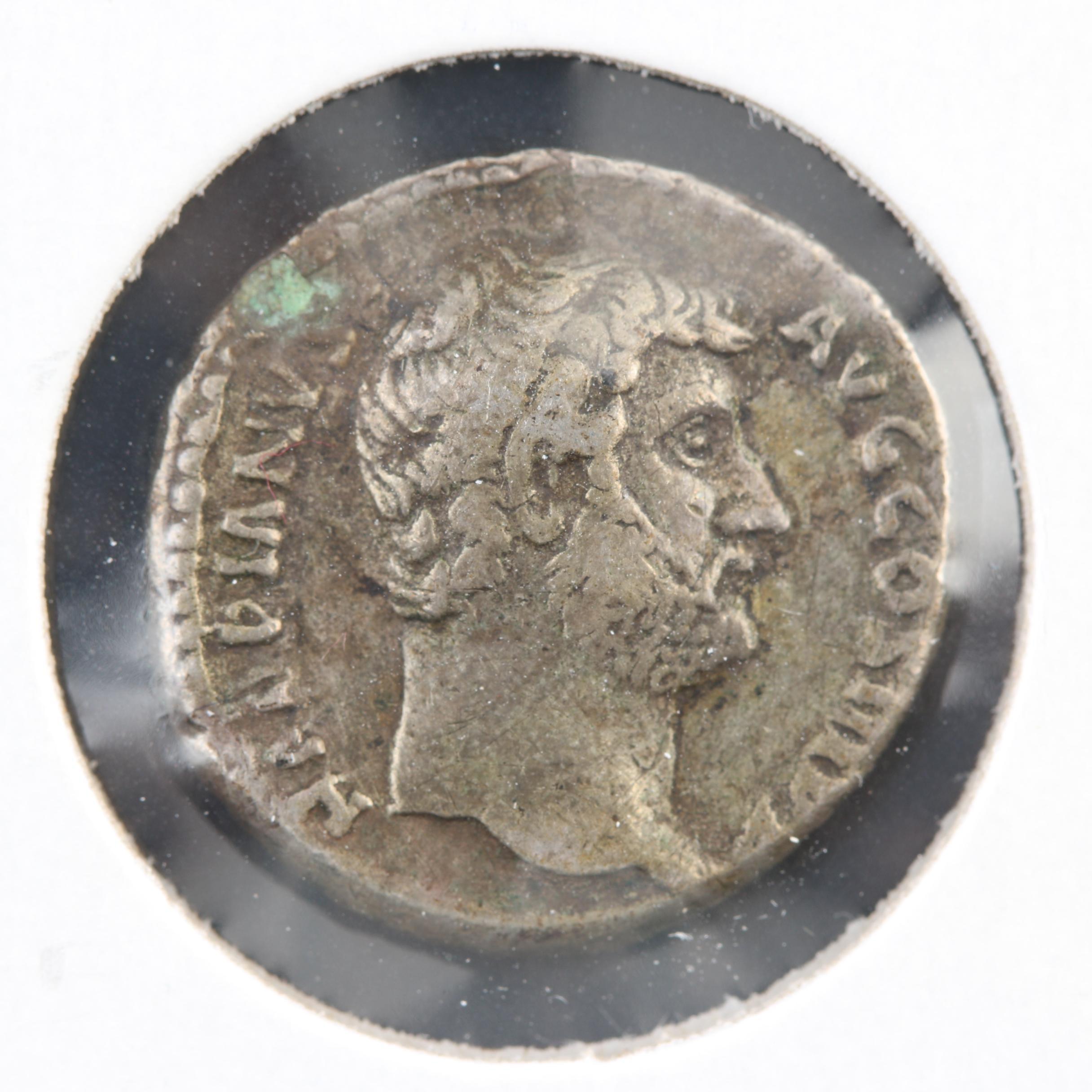 Ancient Roman Imperial Emperor Hadrian AR Denarius, Ca. 125 A.D.