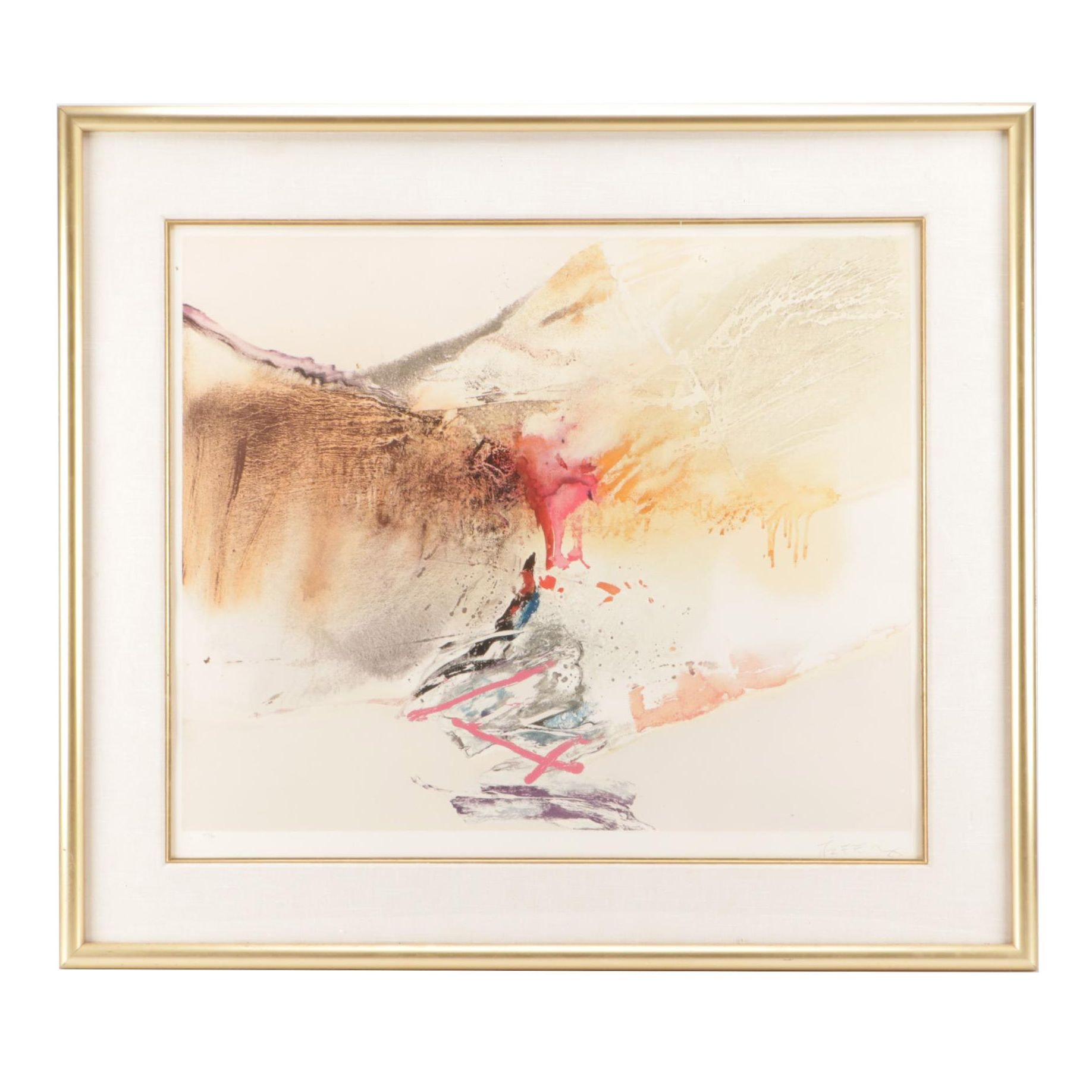 Che Chuang Limited Edition Abstract Serigraph