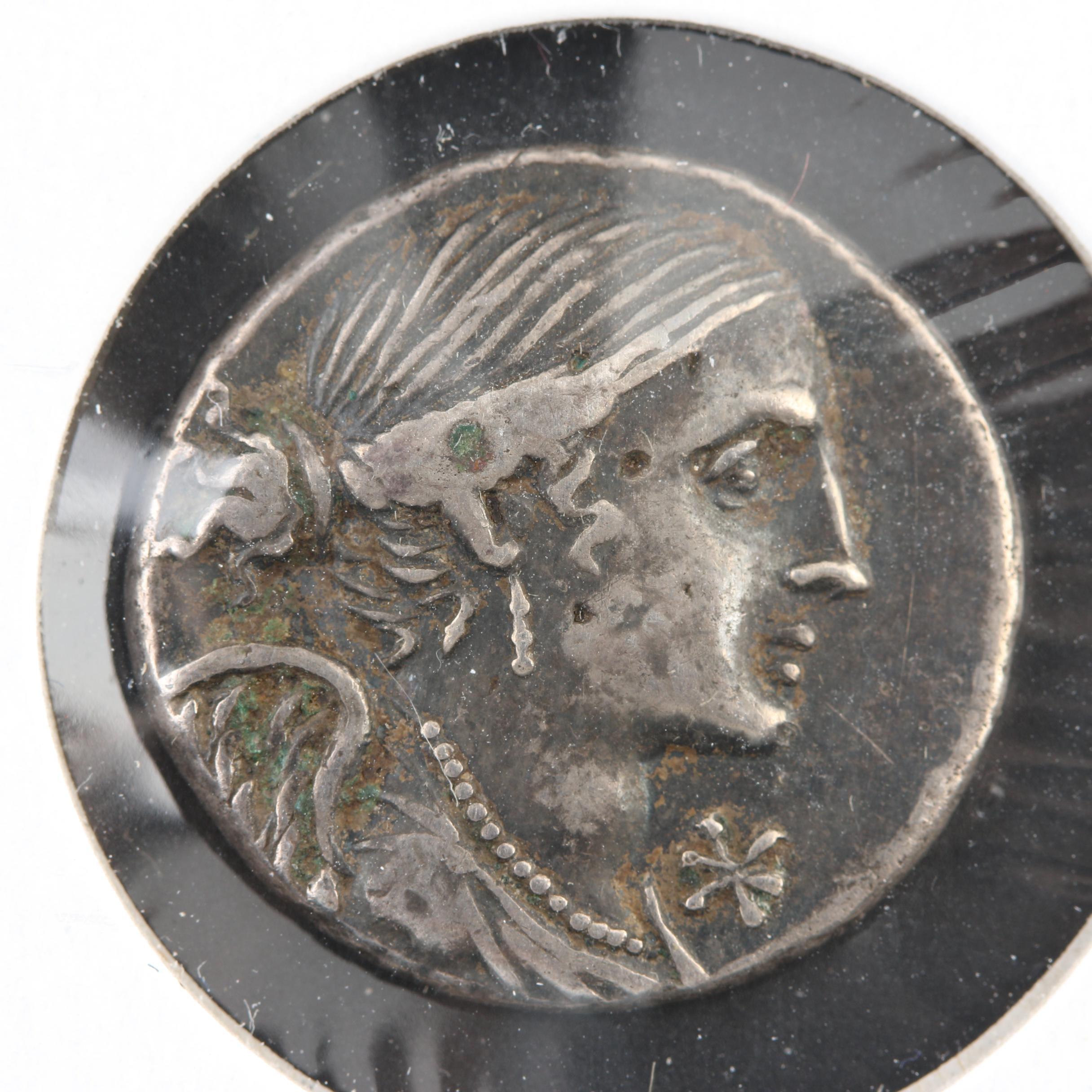 Ancient Roman Republic AR Denarius of Valerius Flacus Ca. 103 B.C.