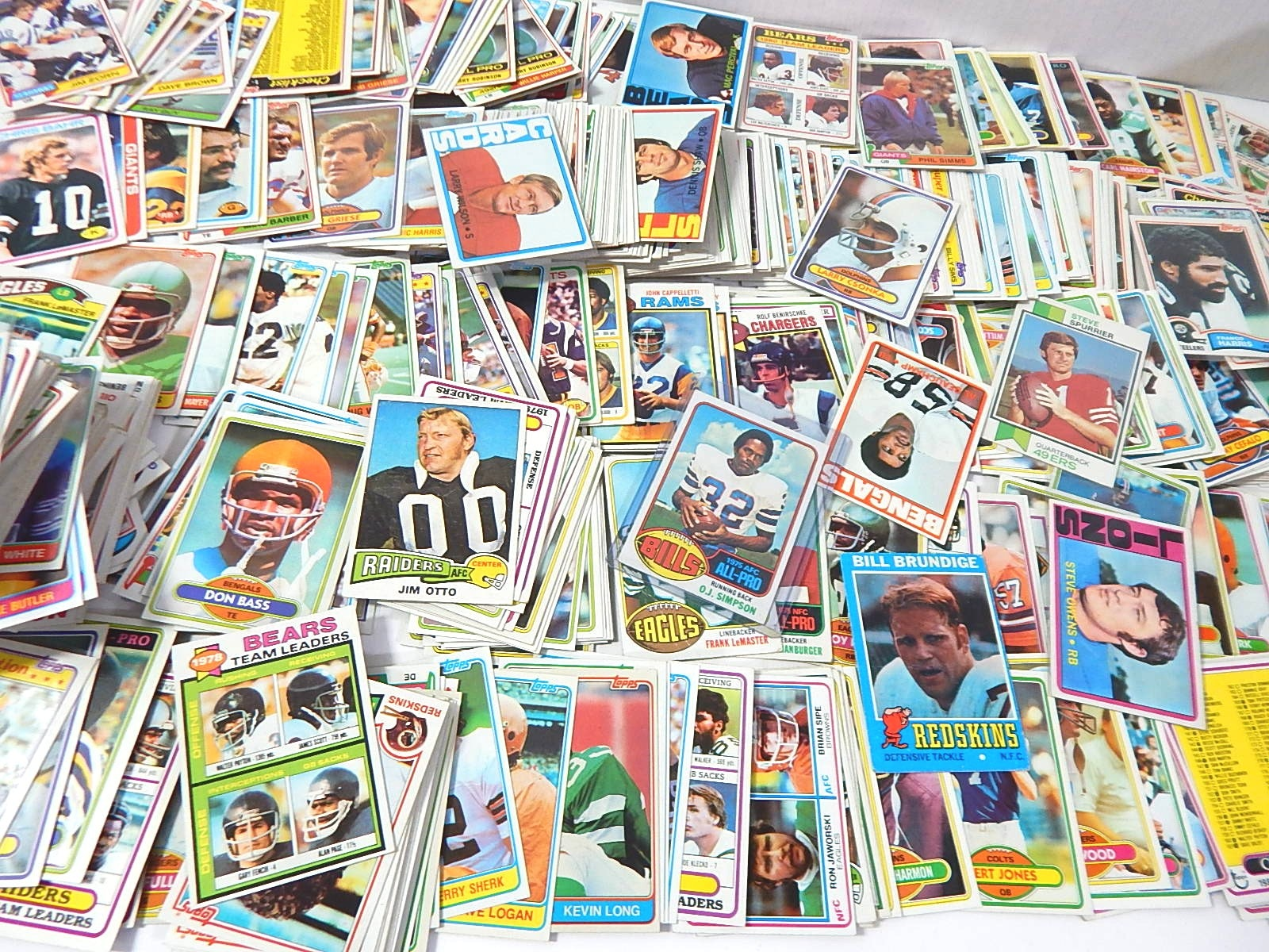 Large  Early 1980s with Some 1970s Football Card Collection