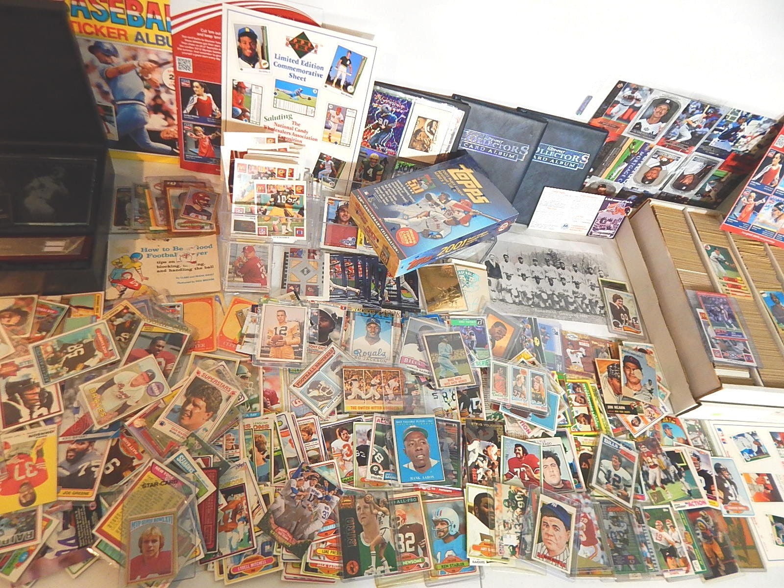 Large Sports Card Collection with Around 4000 Cards - 1962 Mantle, 1961 Aaron