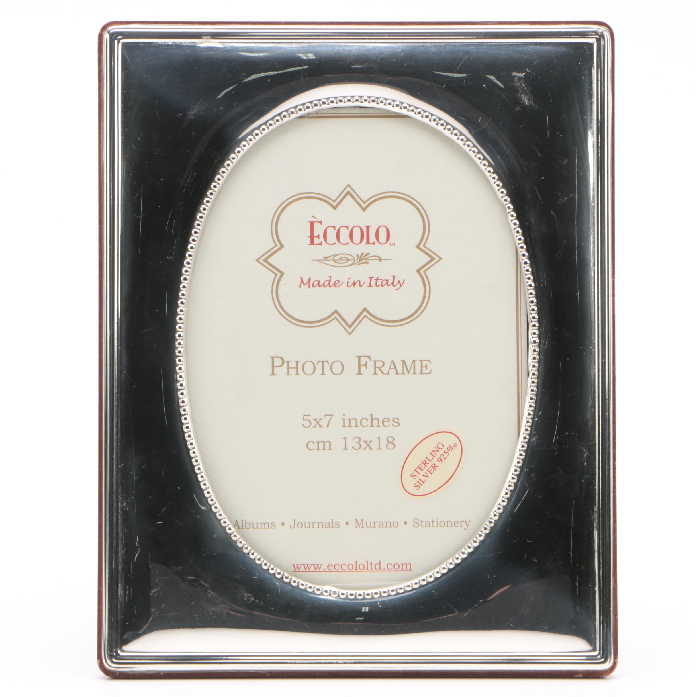 Eccolo Italian Sterling Silver 5 x 7 Picture Frame