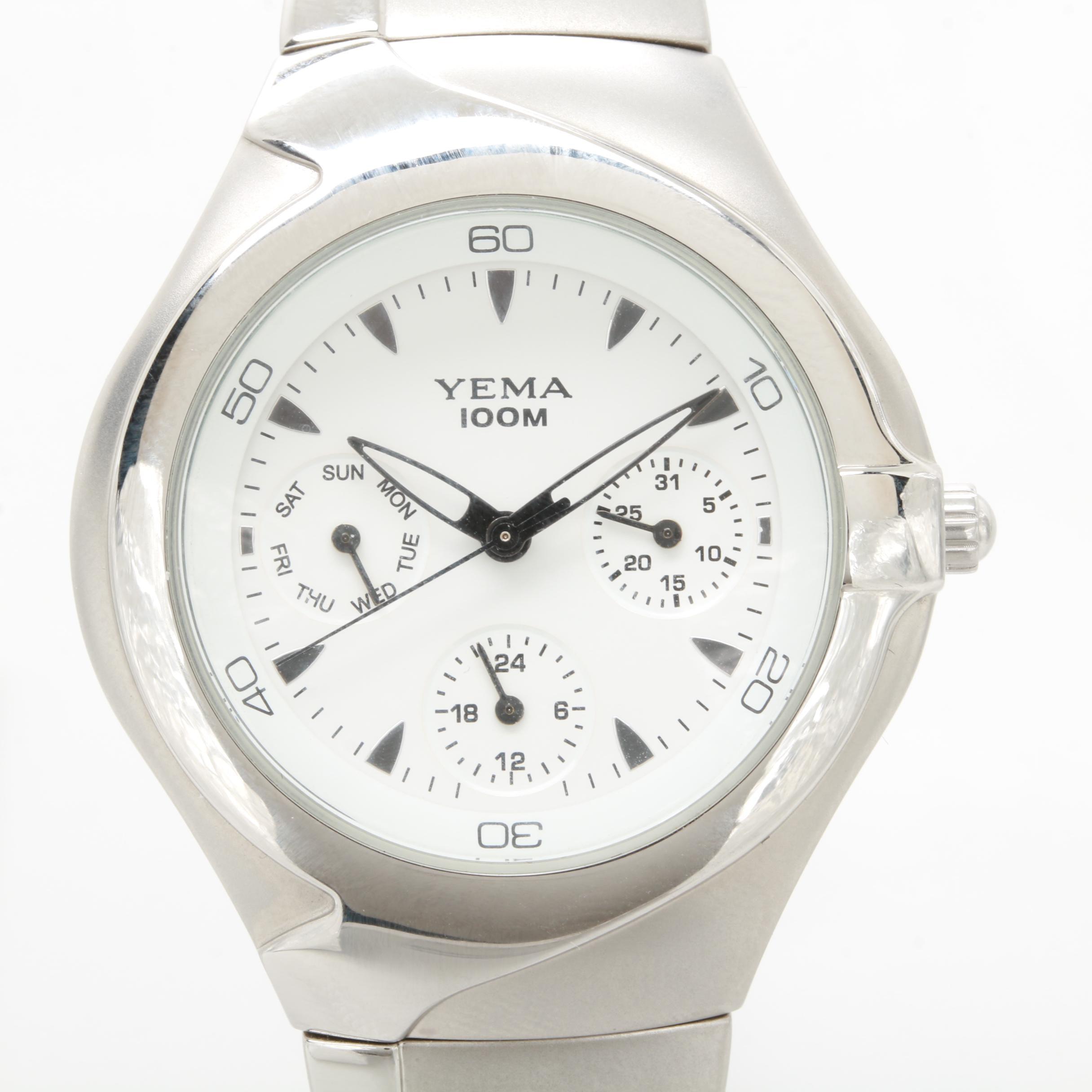Yema Model YA244 Multi-Function Quartz Watch