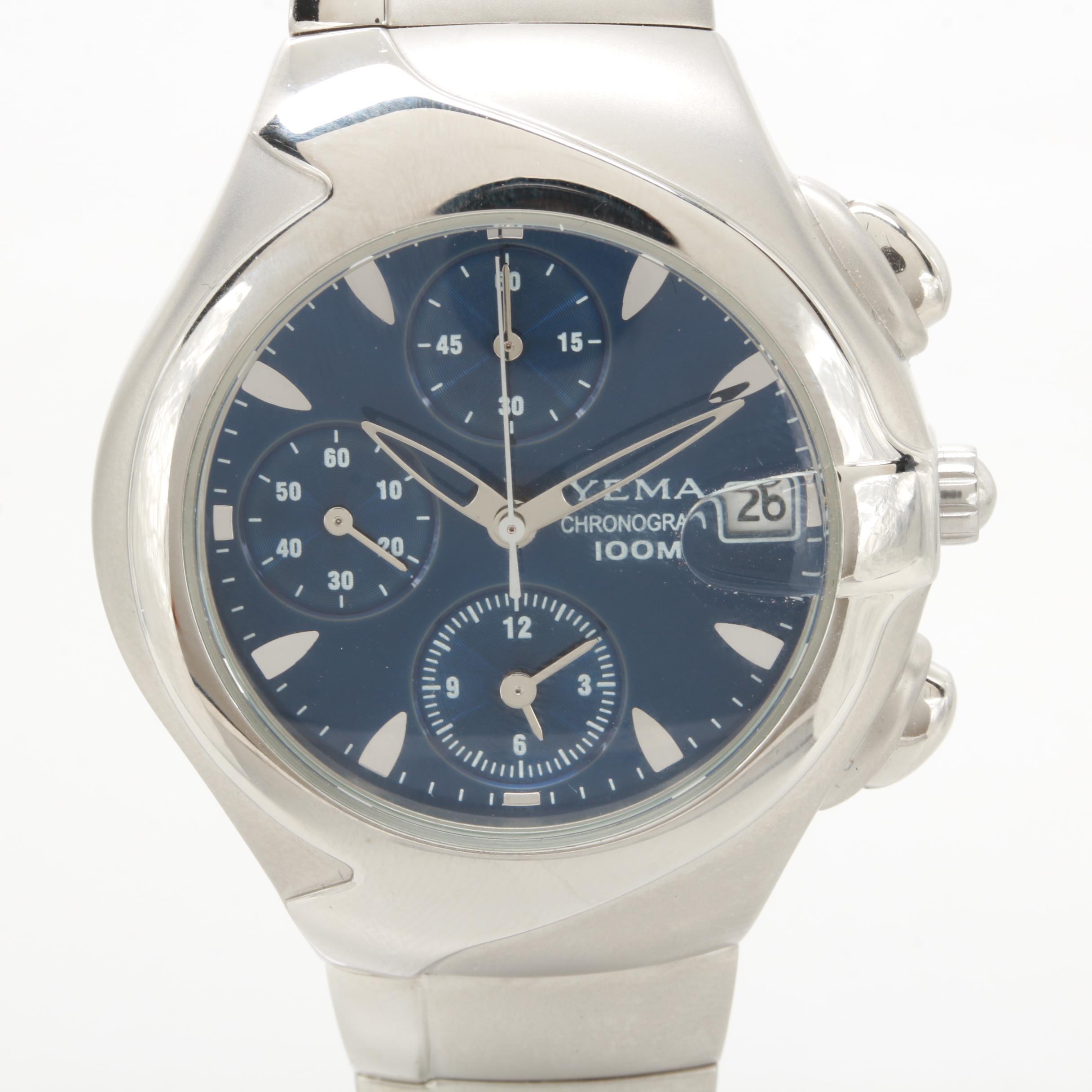 Yema Model YA256 Quartz Chronograph Watch