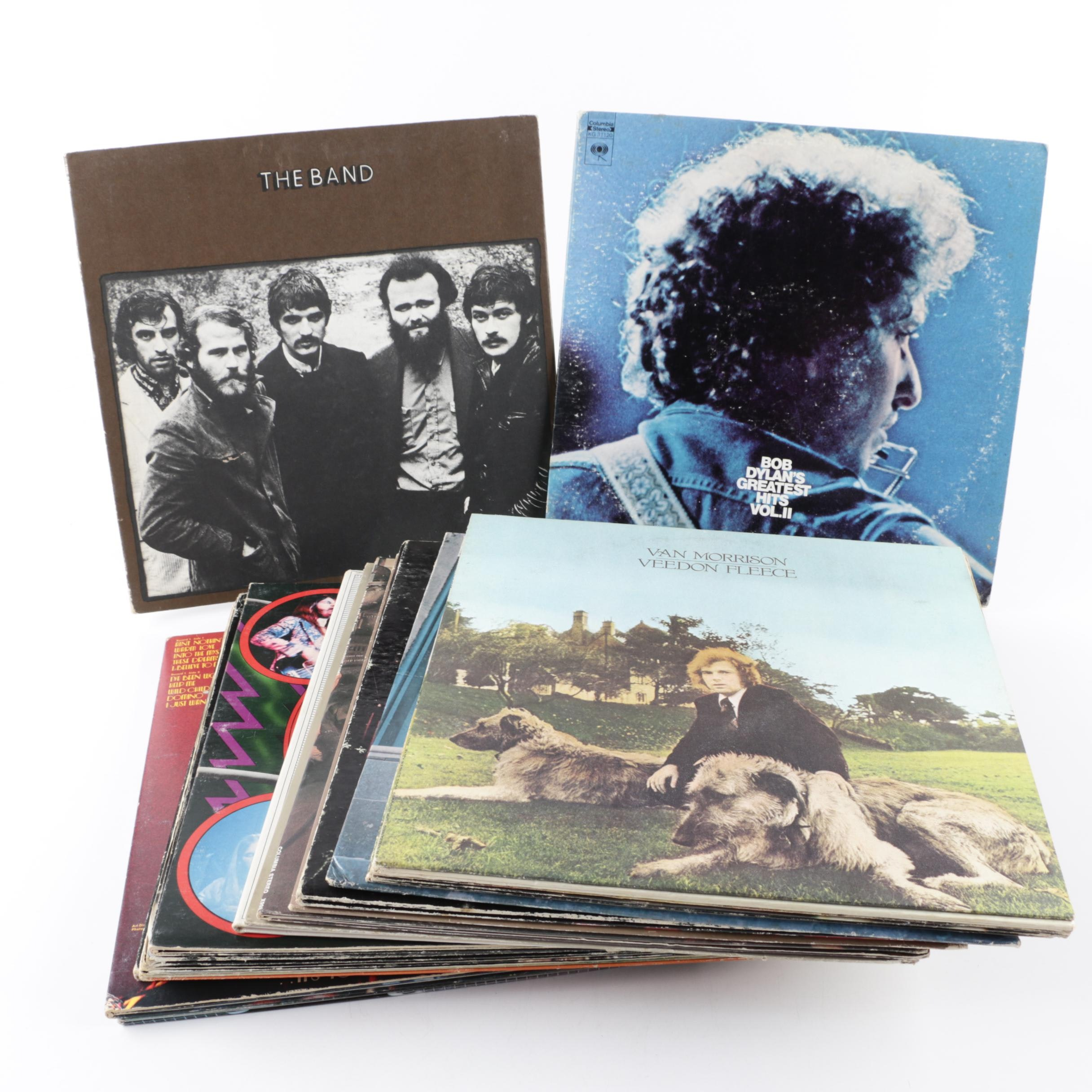 Van Morrison, Bob Dylan, The Band, and Other Rock, Pop and Folk Records