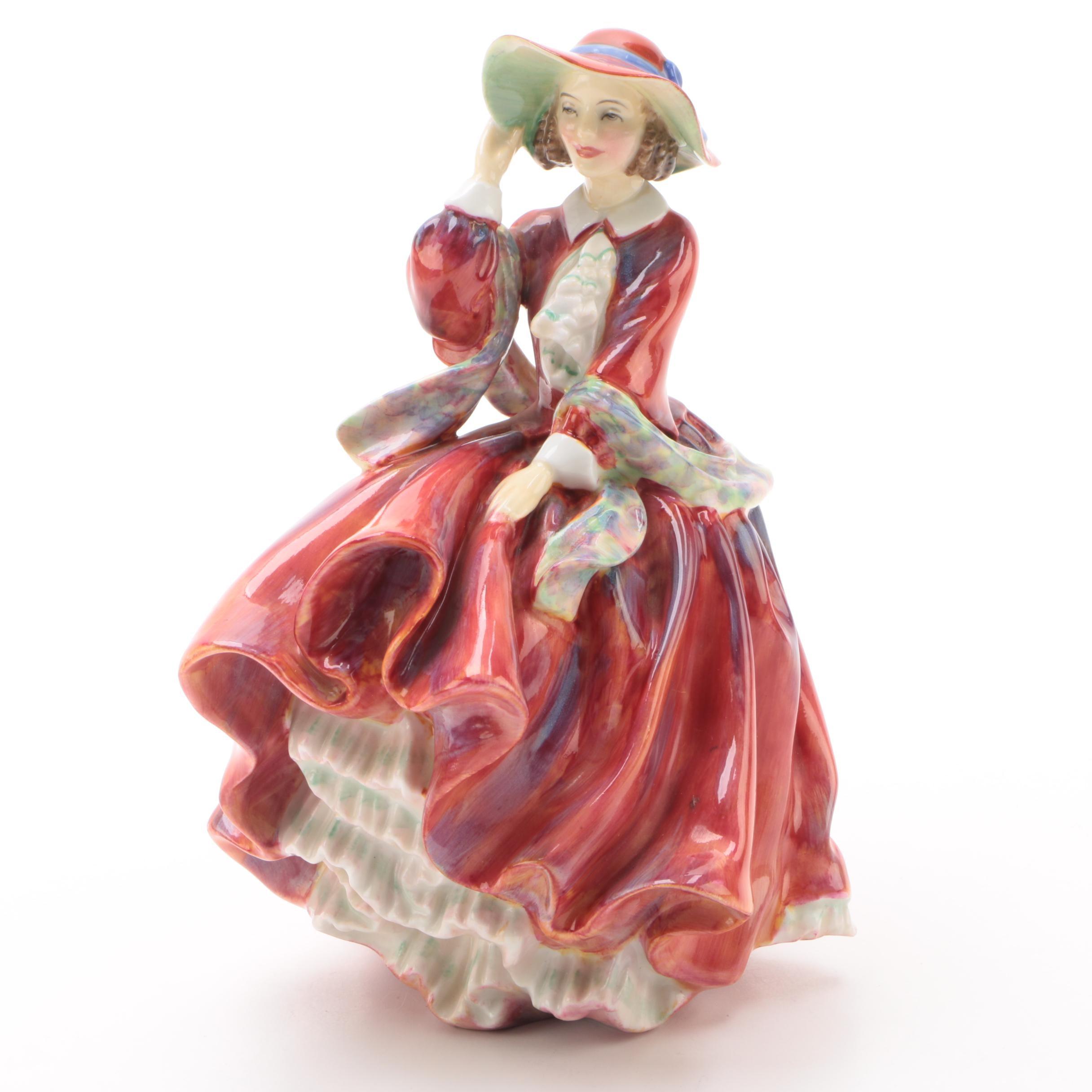 "Royal Doulton ""Top o' the Hill"" Bone China Figurine, circa 1940"