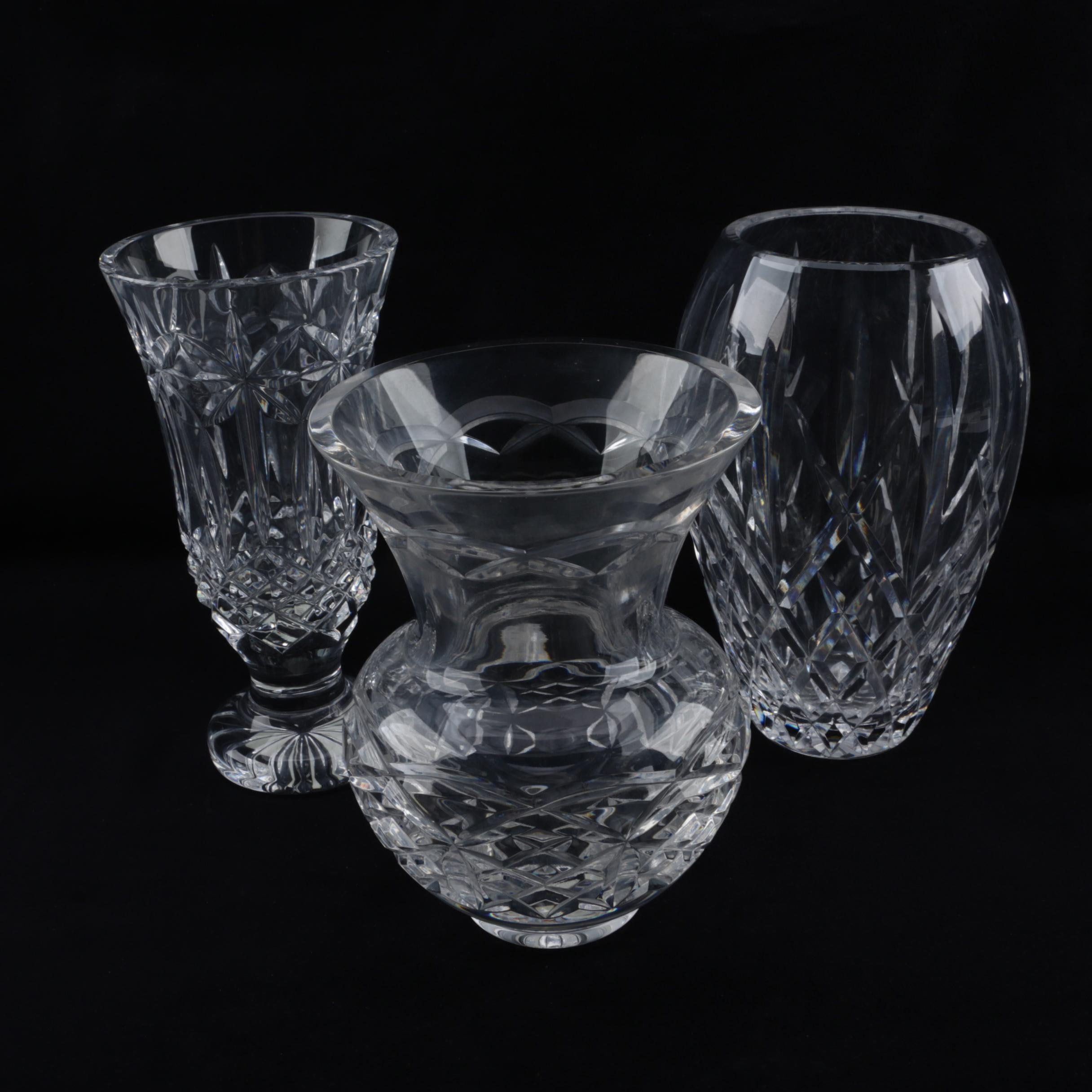 "Waterford Crystal ""Kieran,"" ""Balmoral"" and ""Araglin"" Flower Vases"