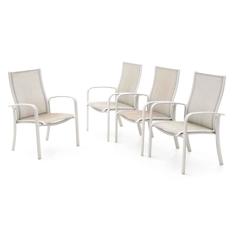 Miraculous Aluminum Sling Stacking Patio Chair Set Home Interior And Landscaping Eliaenasavecom