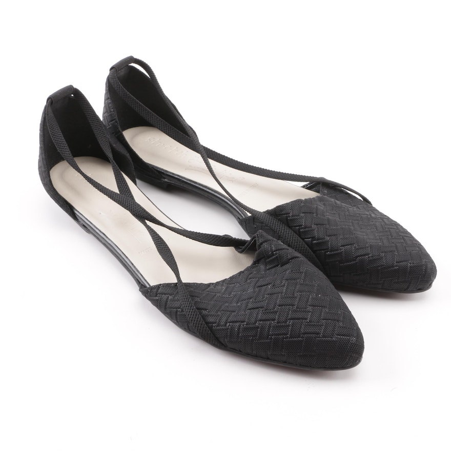 Rapisardi Stretch Your Life Black Cross Strap D orsay Flats   EBTH 14feb6329