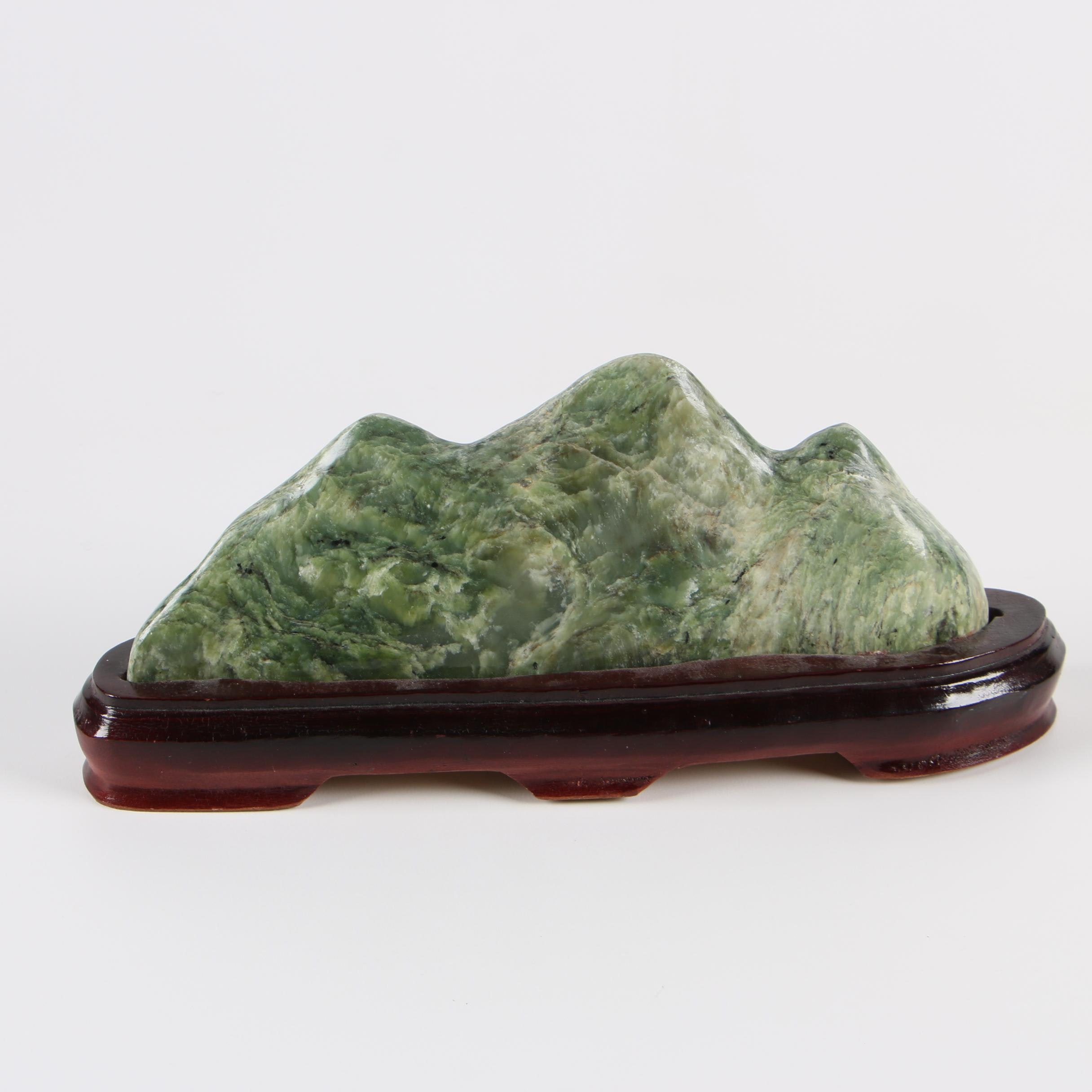 Seraphinite Gongshi Scholar's Rock with Stand