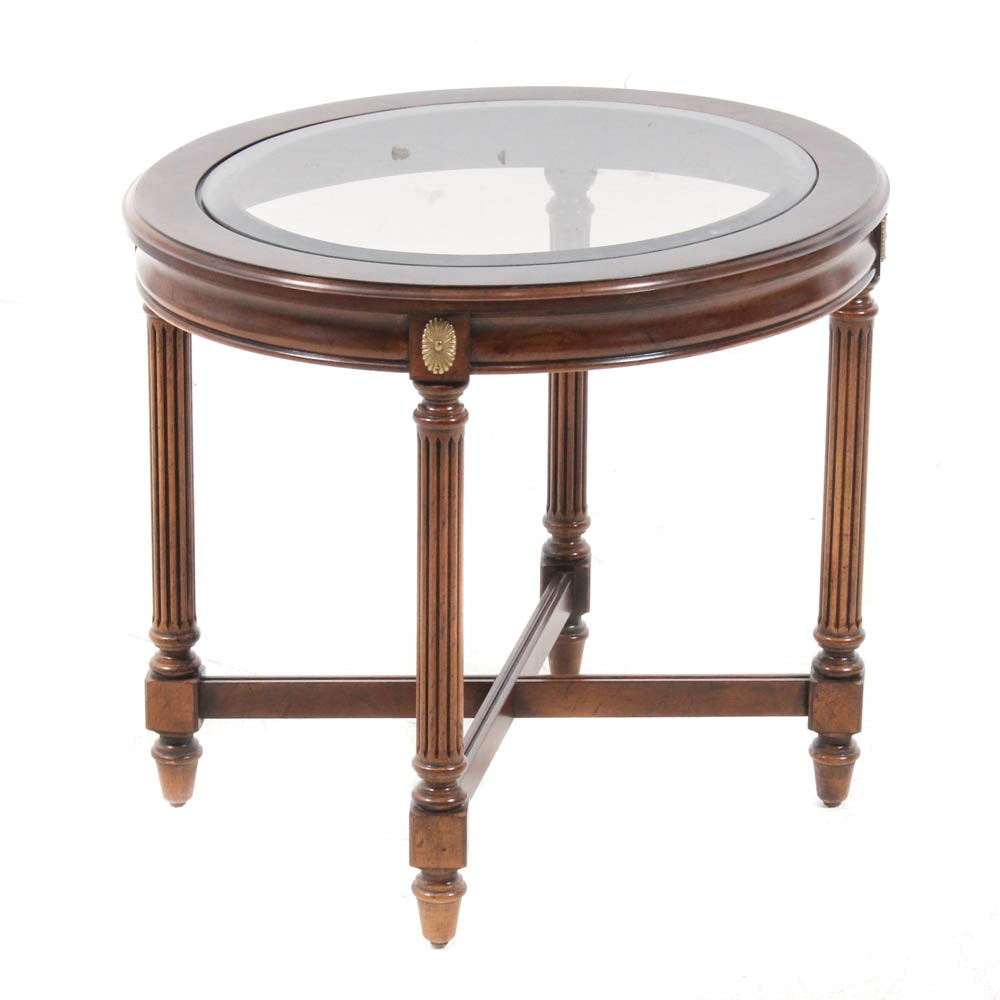 Contemporary Glass Top End Table ...