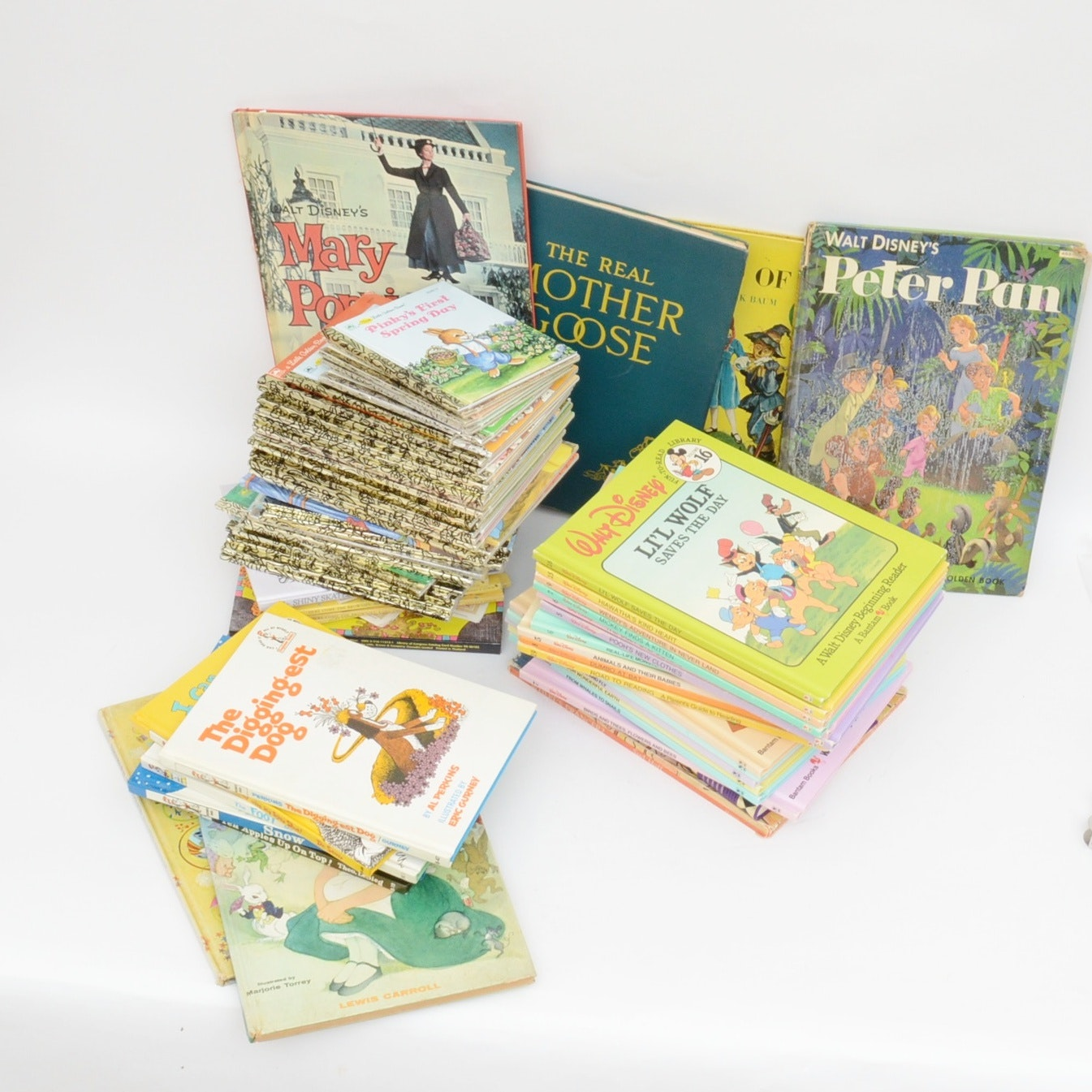 """Collection of Children's Books with Royal Doulton """"Bunnykins"""" China"""