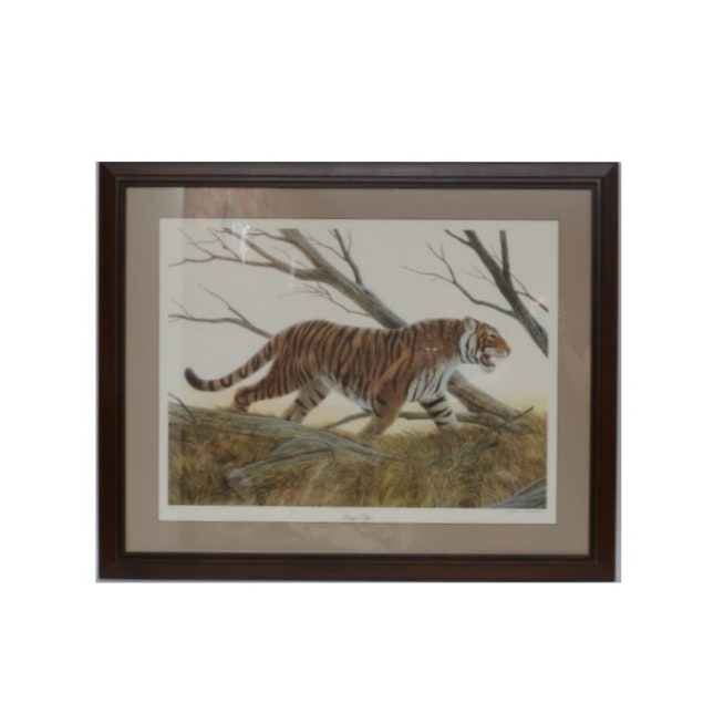 "John Ruthven Limited Edition Offset Lithograph ""Bengal Tiger"""