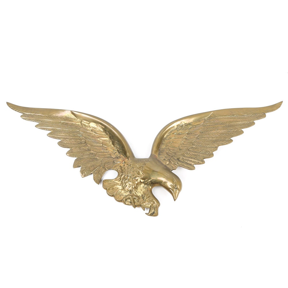 Brass Eagle Wall Plaque