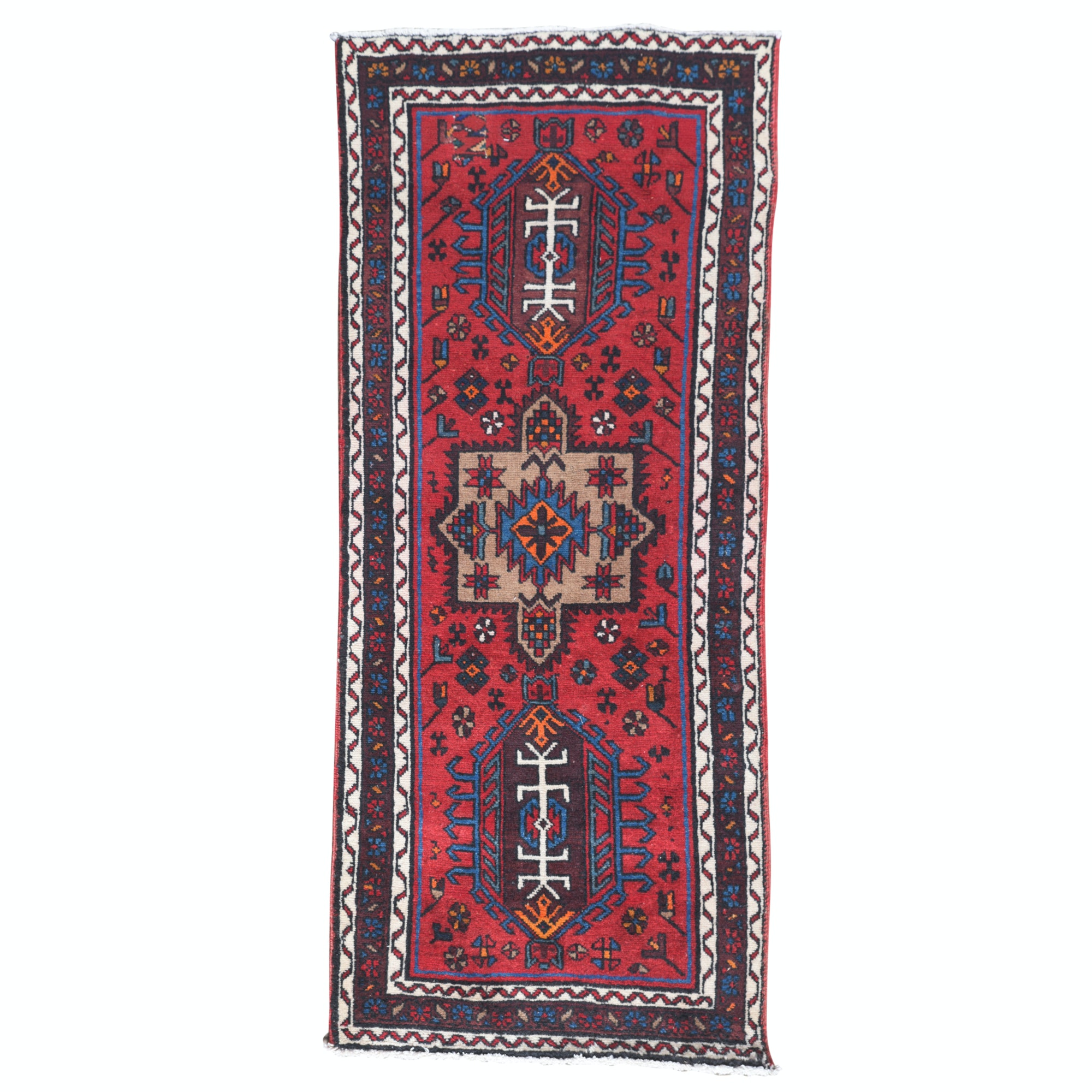 Hand-Knotted Persian Lamberan Wool Runner