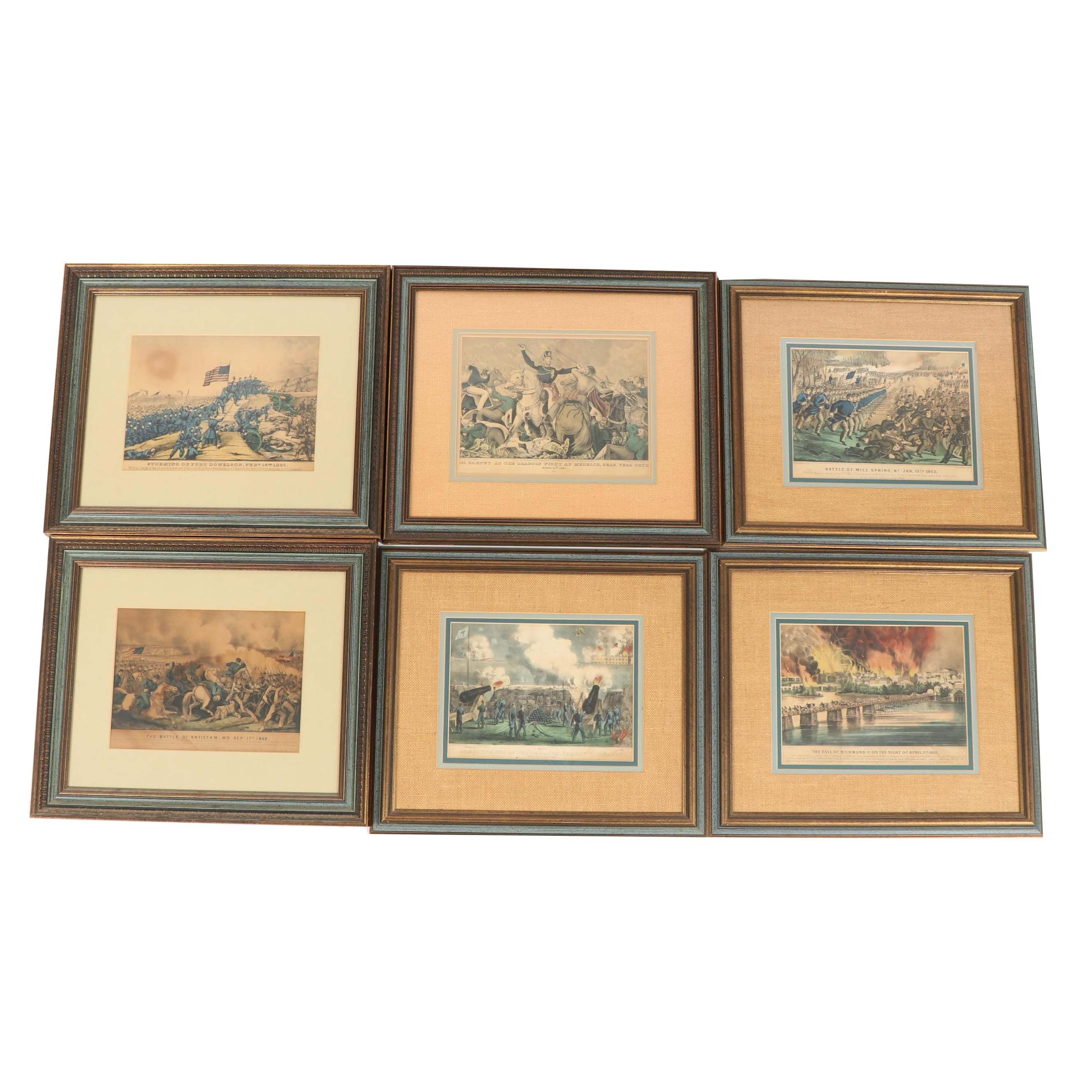 Currier & Ives Colored Lithographs of Civil War Battles