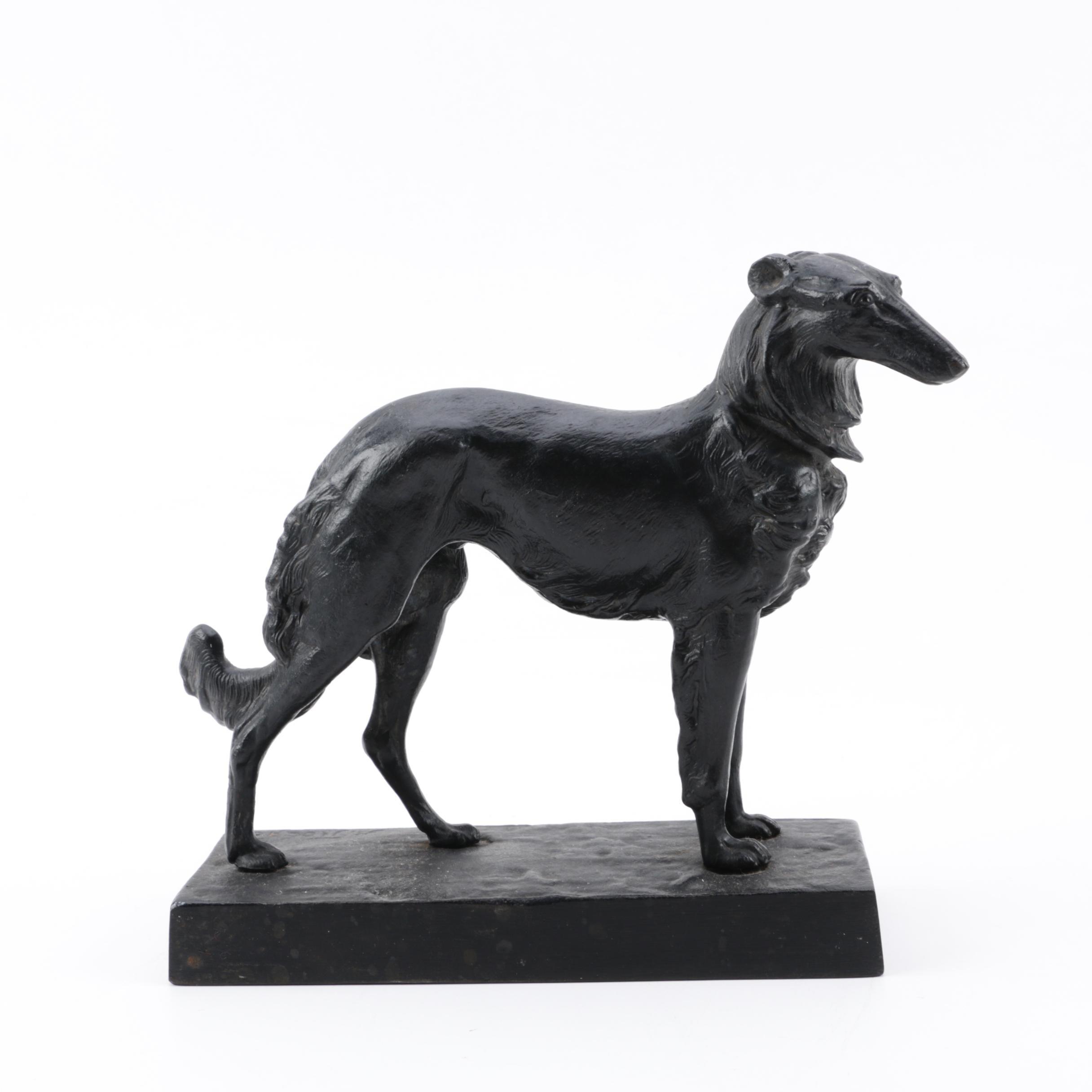 Касли Cast Iron Greyhound Sculpture, 1970s