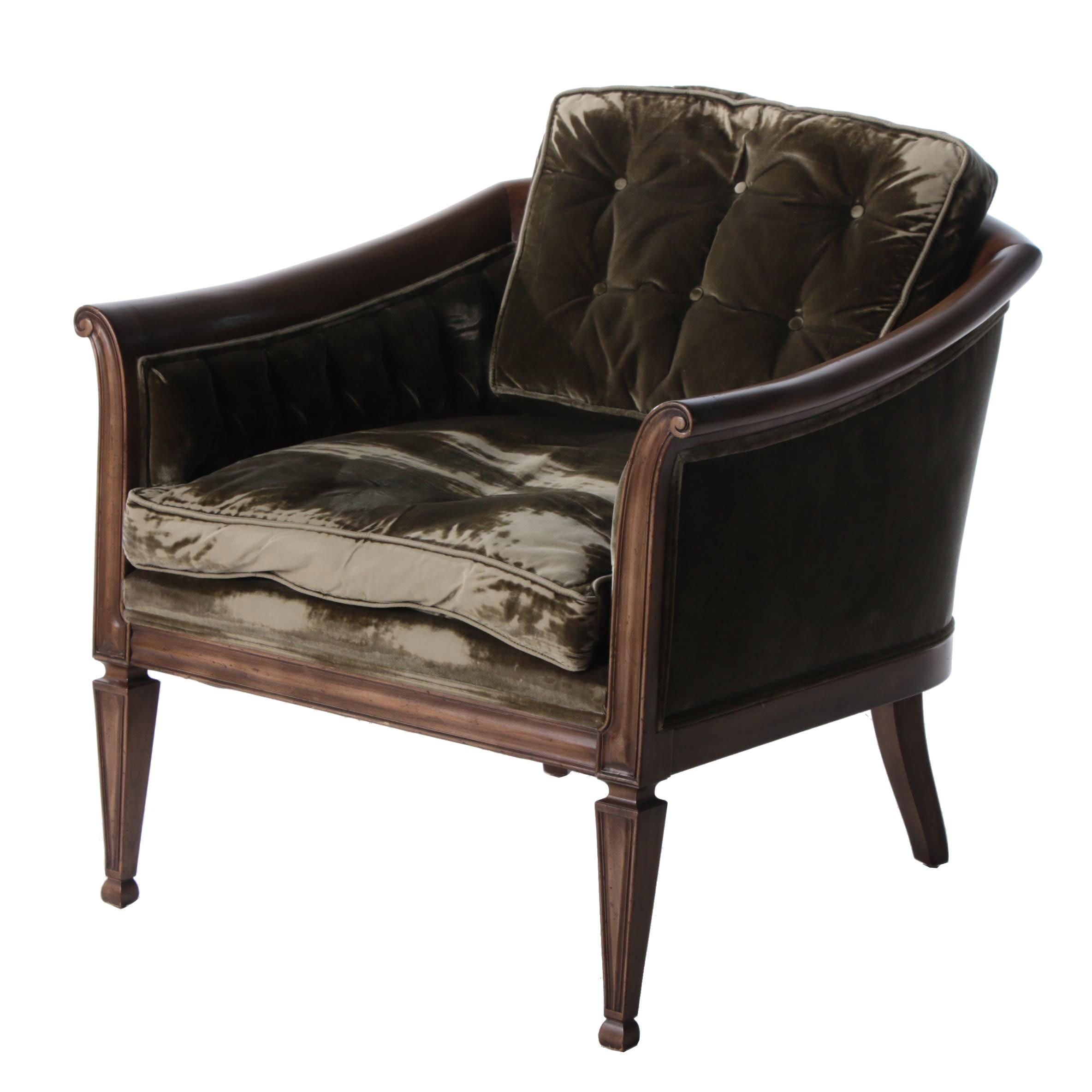 Empire Style Tub Armchair by William A. Berkey, Mid 20th Century