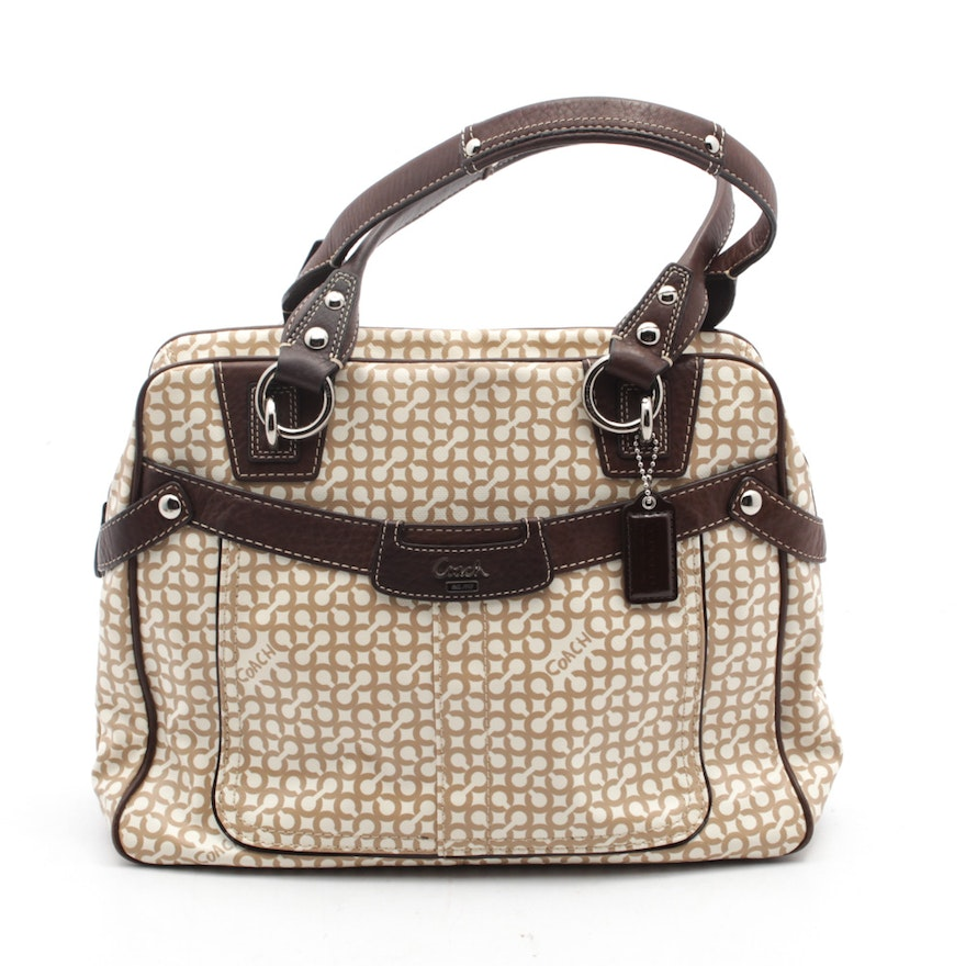f027804f52ac Coach New York Penelope Canvas and Leather Satchel   EBTH