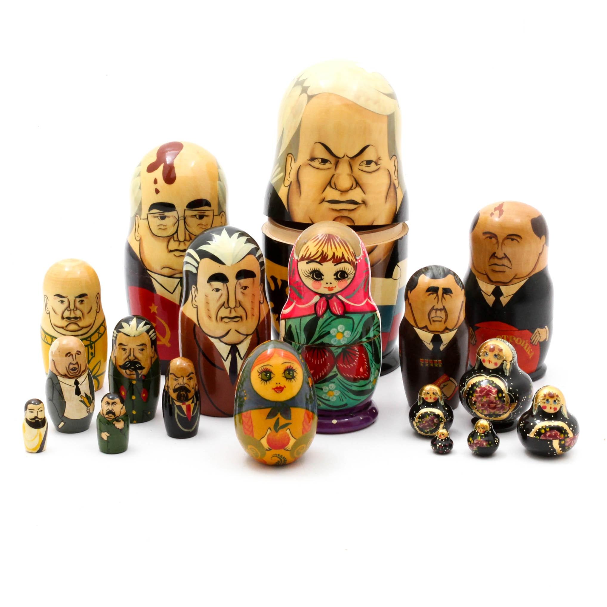Russian Matryoshka Nesting Doll Collection