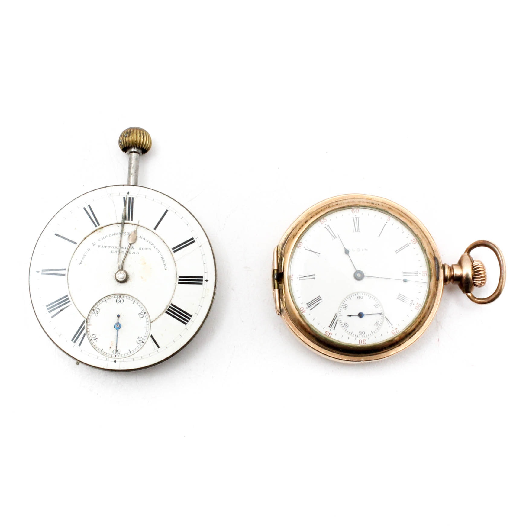 1911 Elgin 15 Jewel Gold Plated Pocket Watch