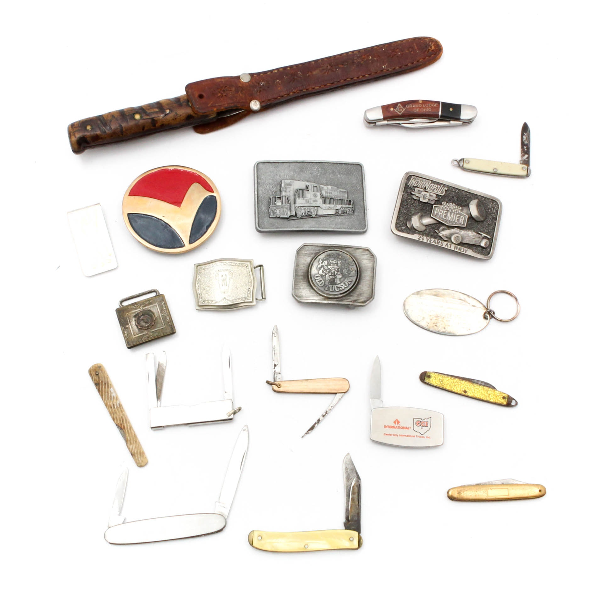 Vintage Pocket Knives, Belt Buckles and Money Clips