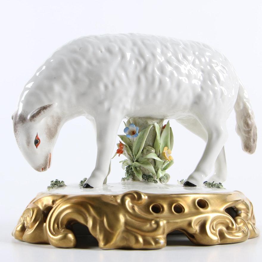d434e4a19 Italian Mottahedeh Ceramic Sheep Figurine : EBTH