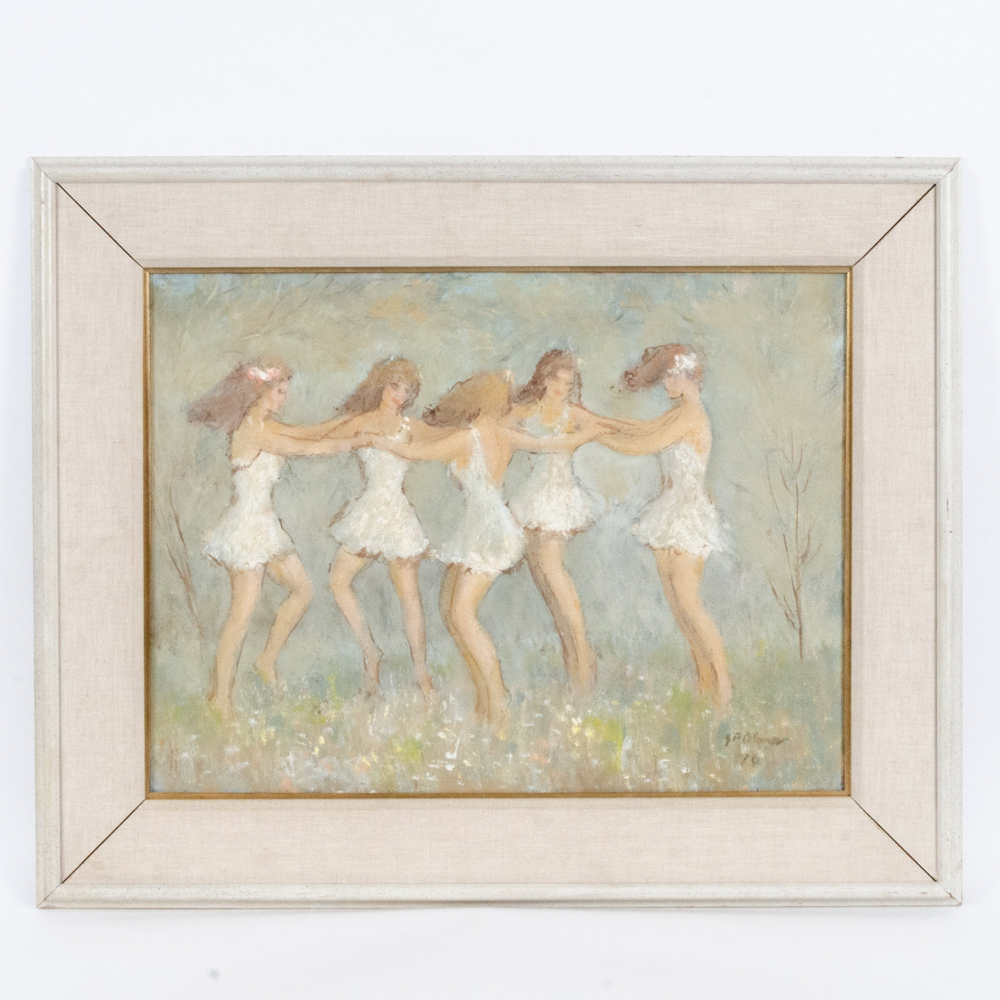 Phillip Ohlmes Oil Painting of Five Dancing Maidens